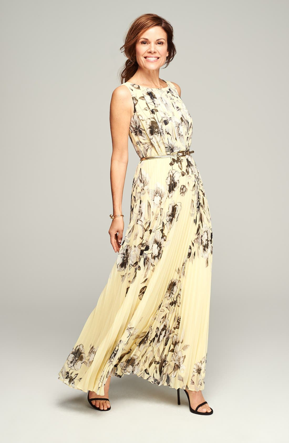 Alternate Image 3  - Eliza J Print Chiffon Maxi Dress