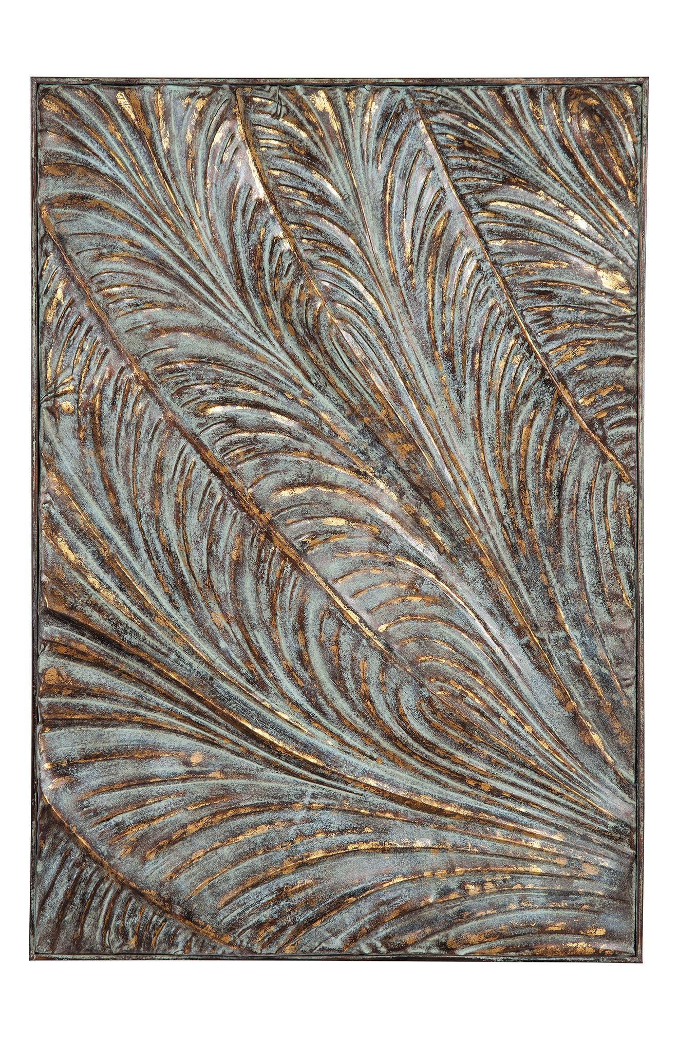 Botanical Wall Art,                         Main,                         color, Metal