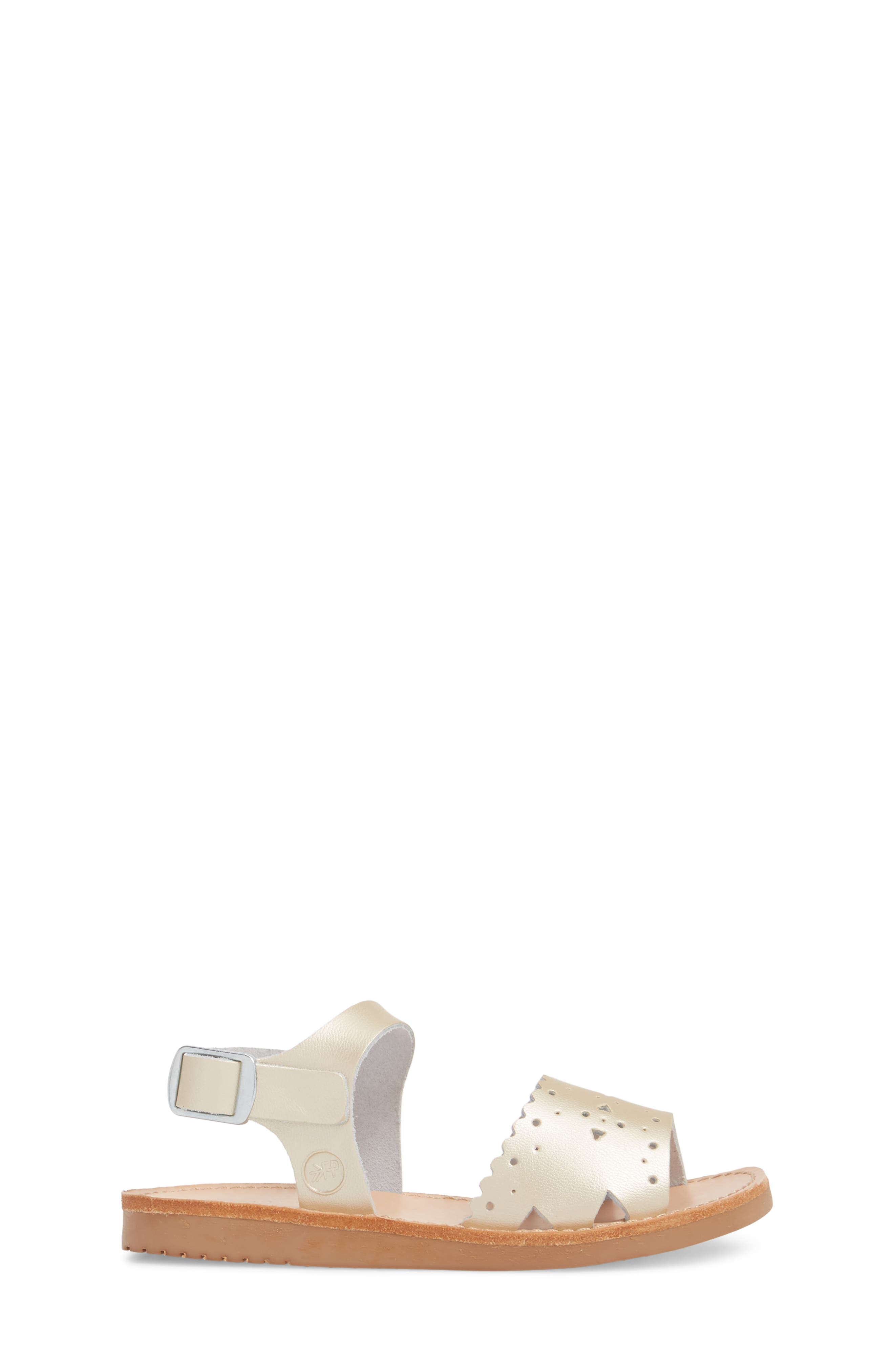 Laguna Water Resistant Perforated Sandal,                             Alternate thumbnail 3, color,                             Platinum