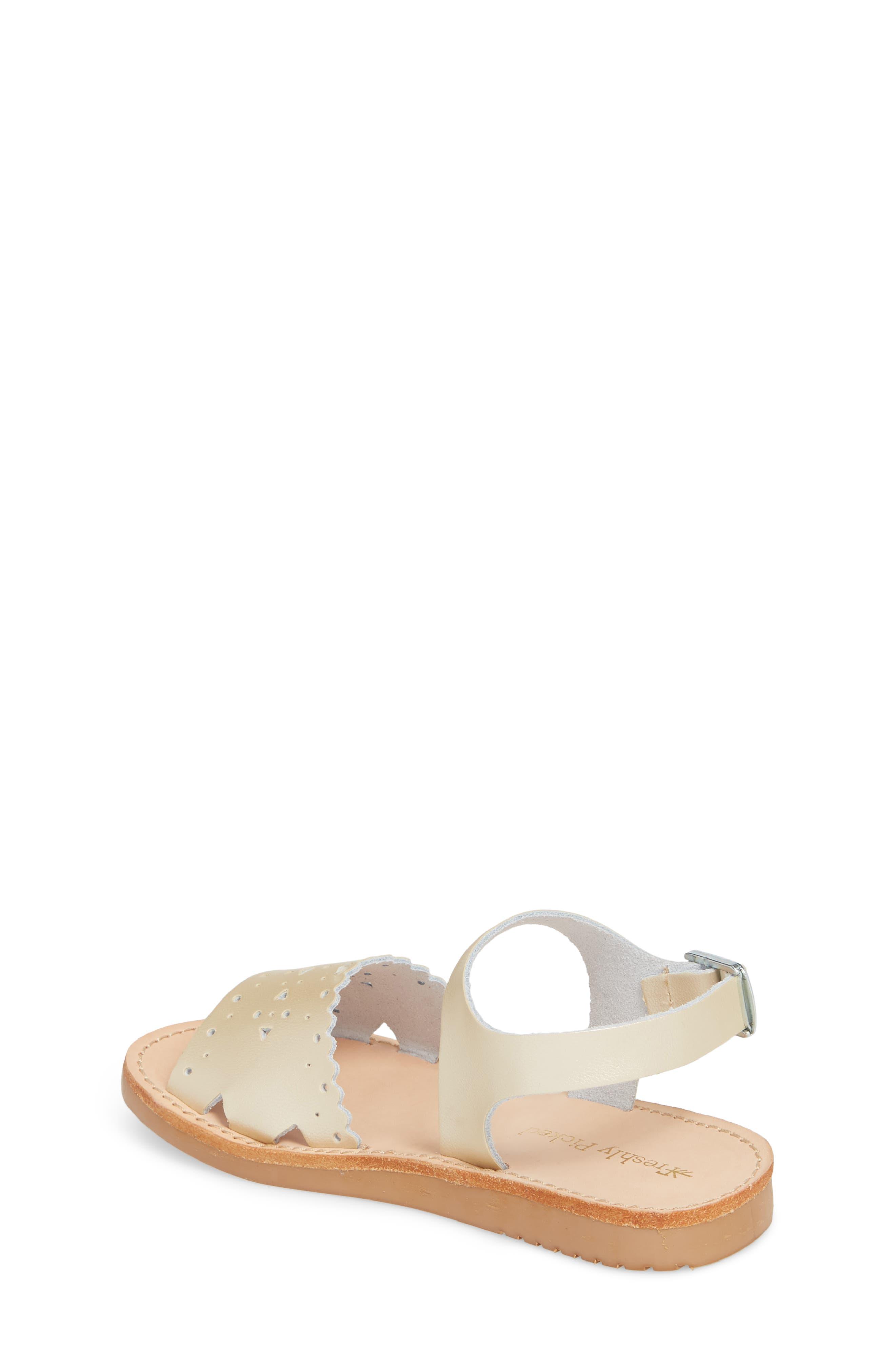 Laguna Water Resistant Perforated Sandal,                             Alternate thumbnail 2, color,                             Platinum