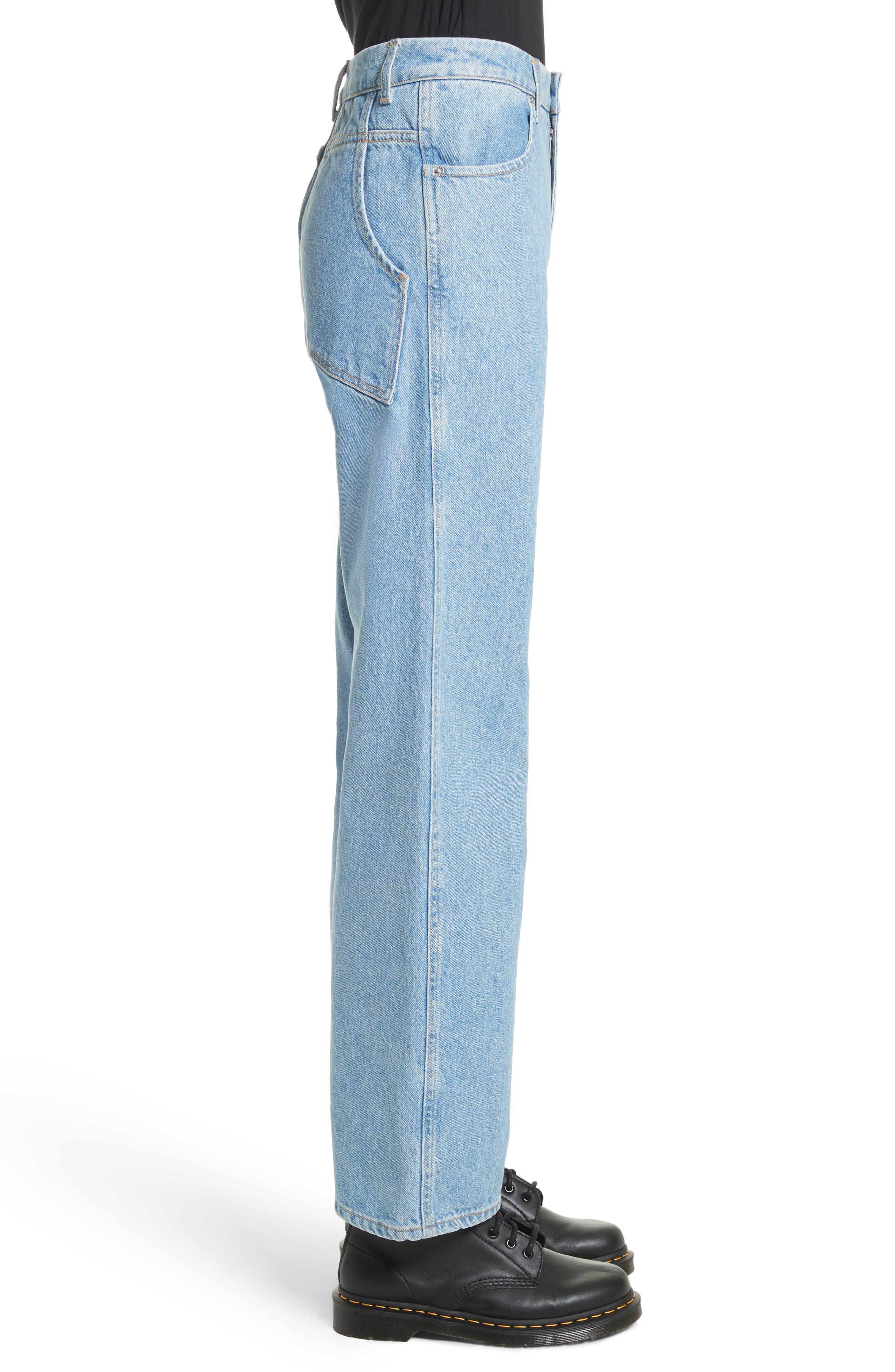 EL Wide Leg Jeans,                             Alternate thumbnail 3, color,                             True Blue
