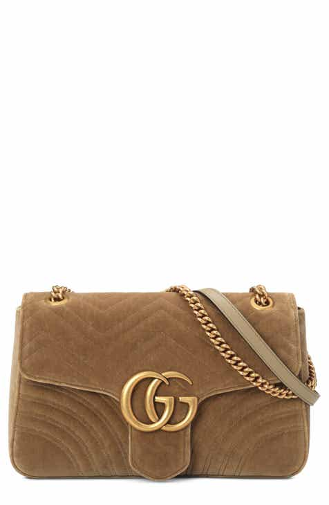 c9098b06ab6 Gucci Medium GG Marmont 2.0 Matelassé Velvet Shoulder Bag
