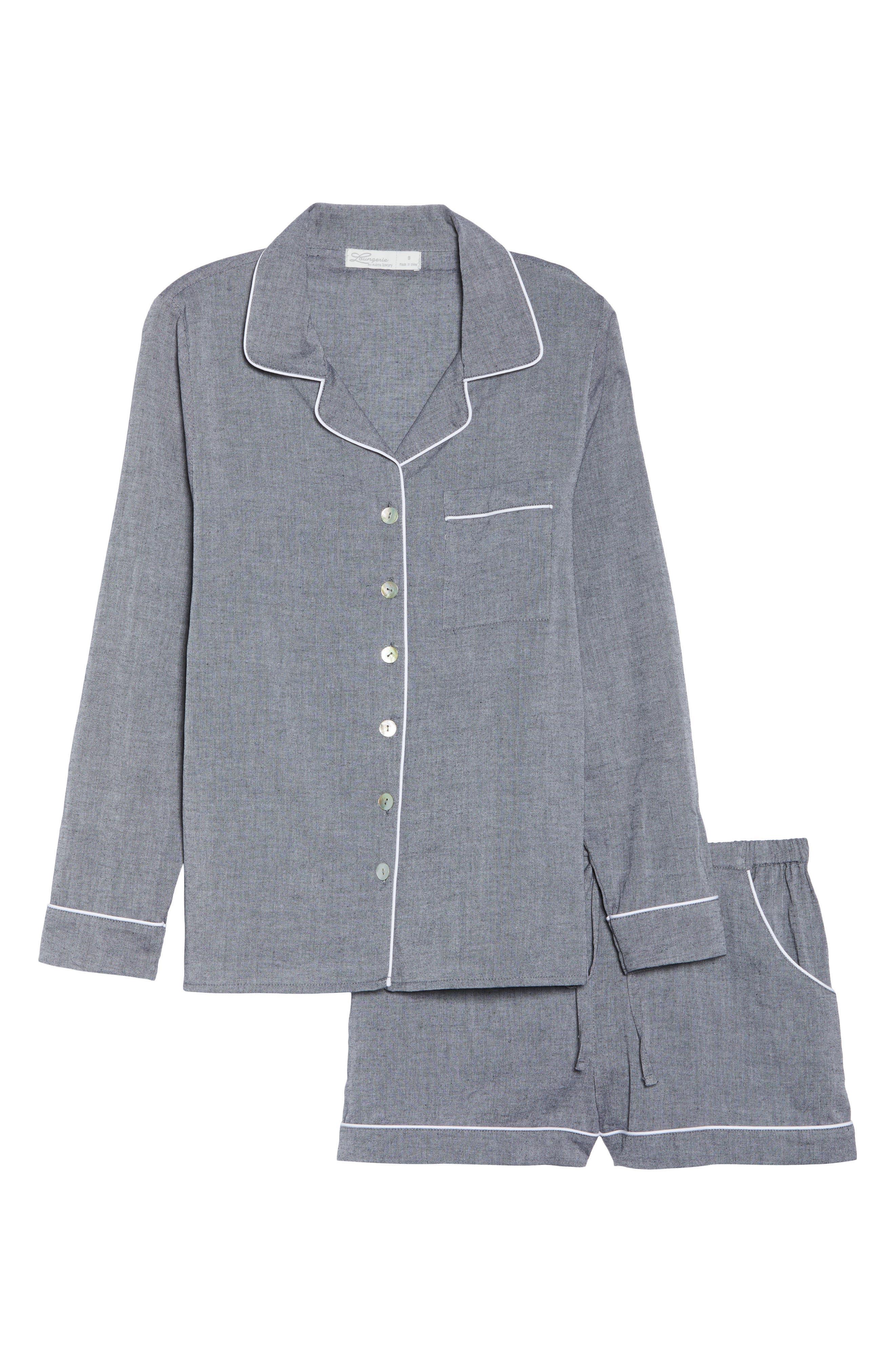 Short Pajamas,                             Alternate thumbnail 6, color,                             Charcoal
