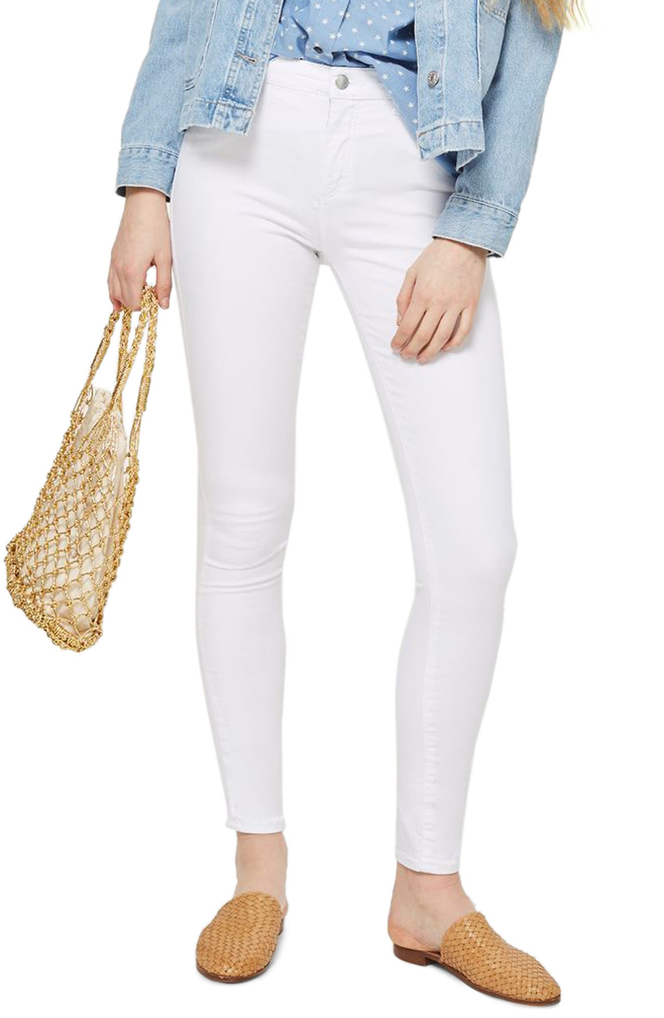 Leigh Skinny Jeans,                         Main,                         color, White