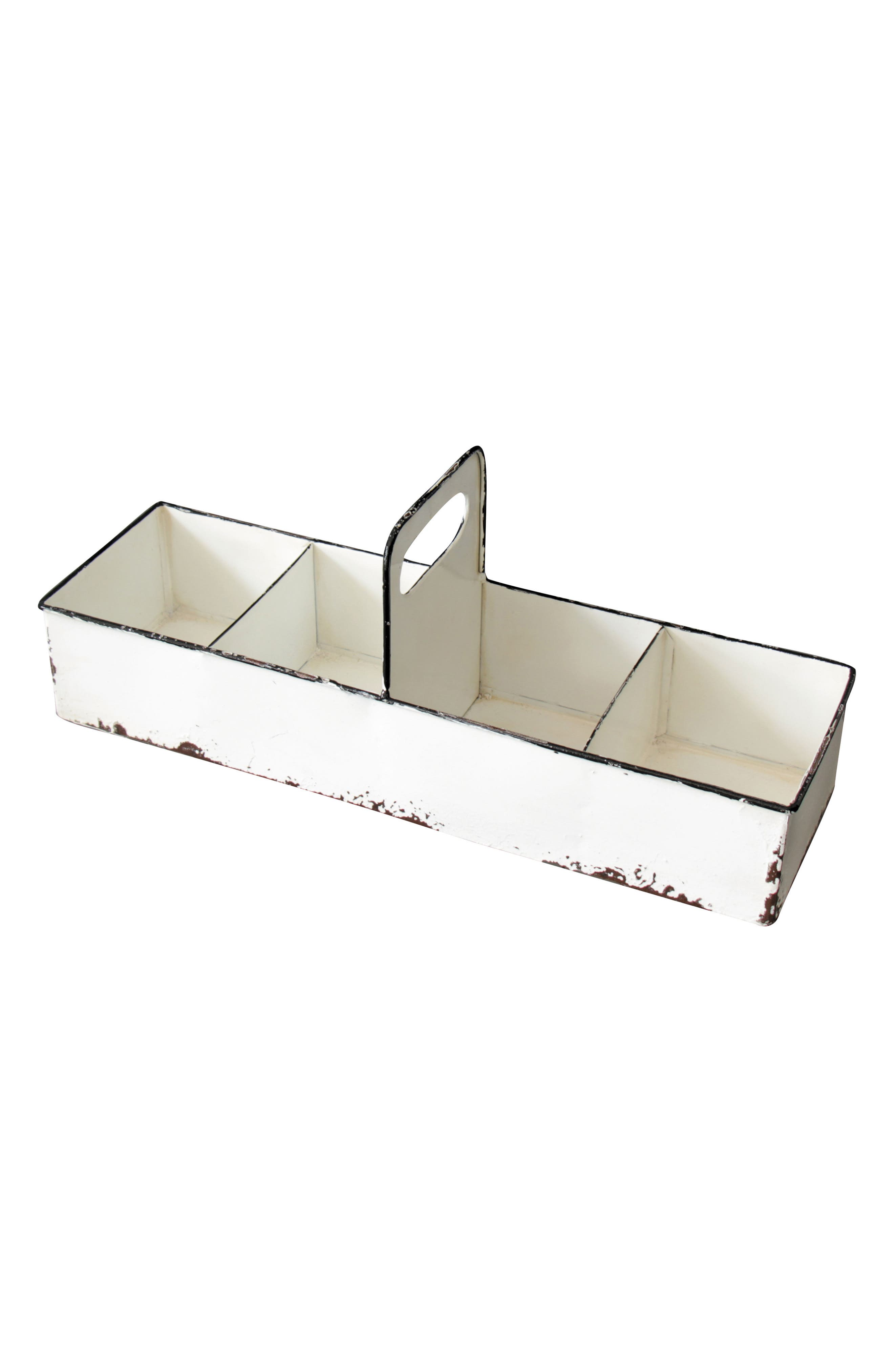 Slotted Enamel Tray,                         Main,                         color, Metal