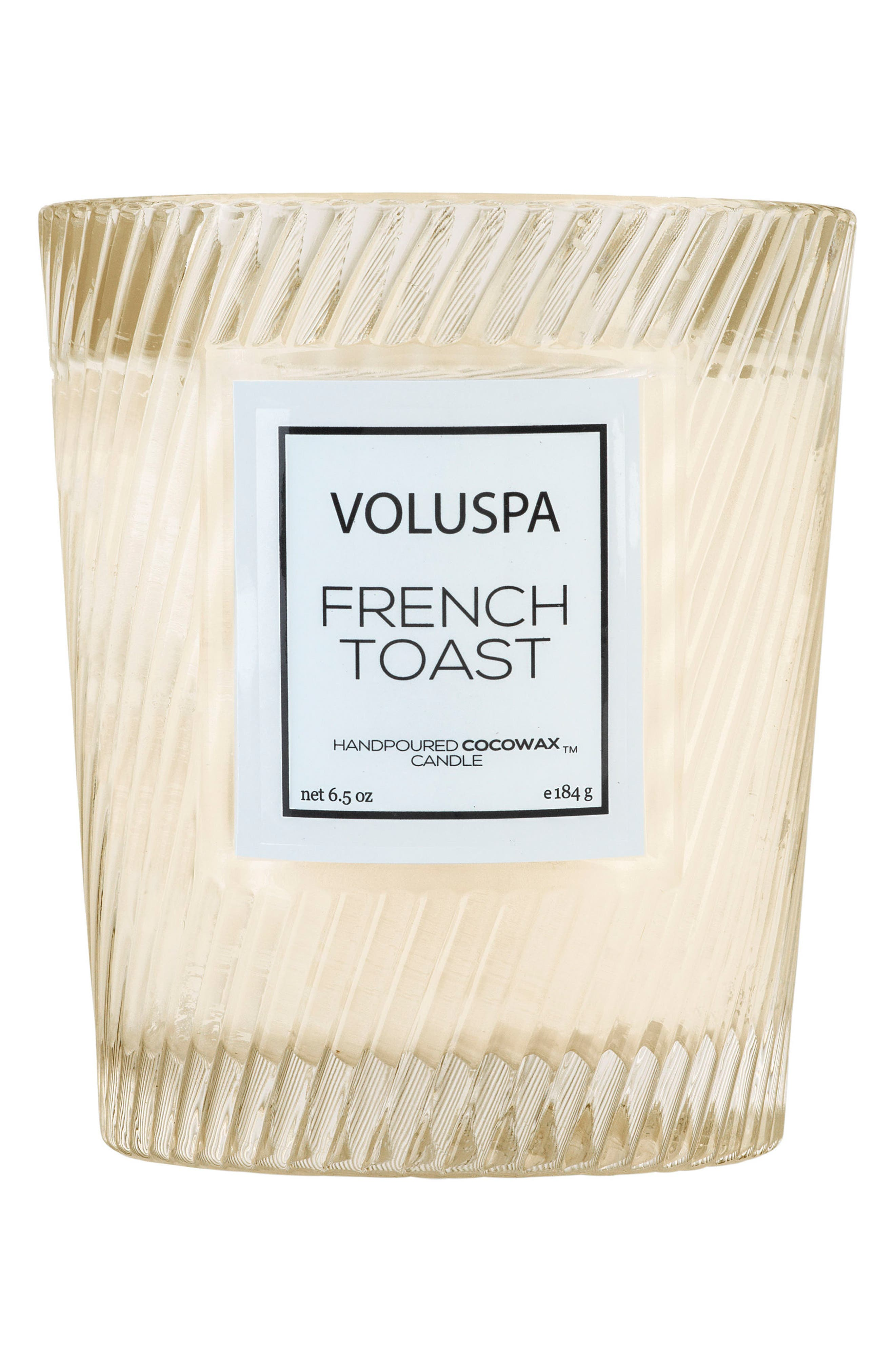 Voluspa Macaron Classic Textured Glass Candle