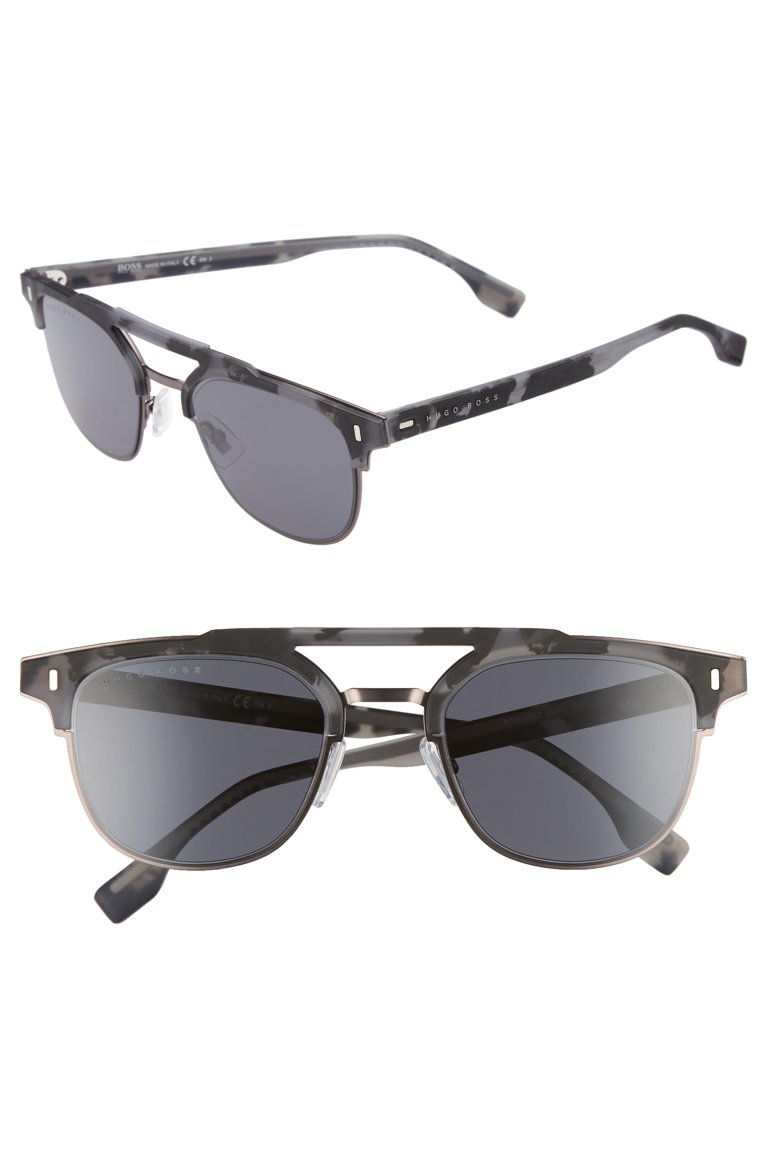 52mm Sunglasses,                             Main thumbnail 1, color,                             Mud Havana Rose
