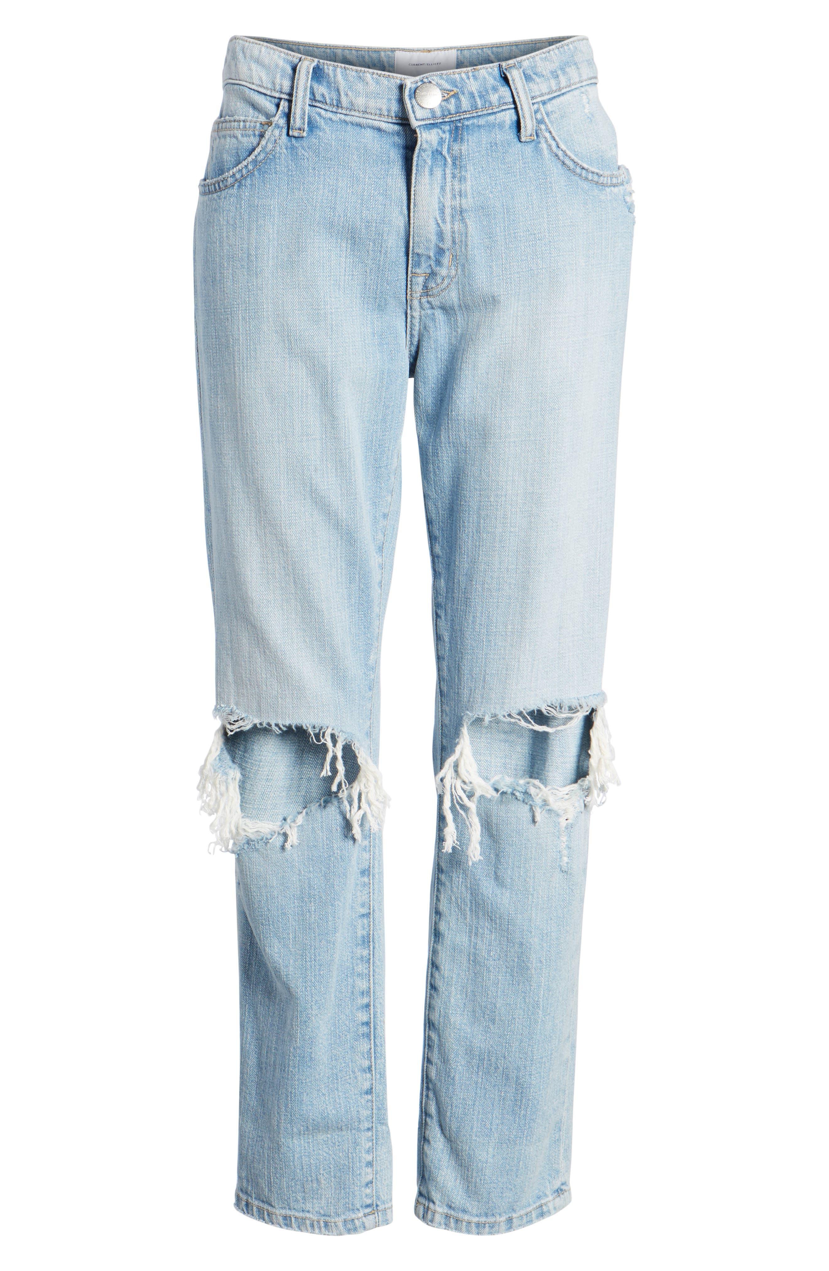 The Fling Ripped Boyfriend Jeans,                             Alternate thumbnail 7, color,                             Nova