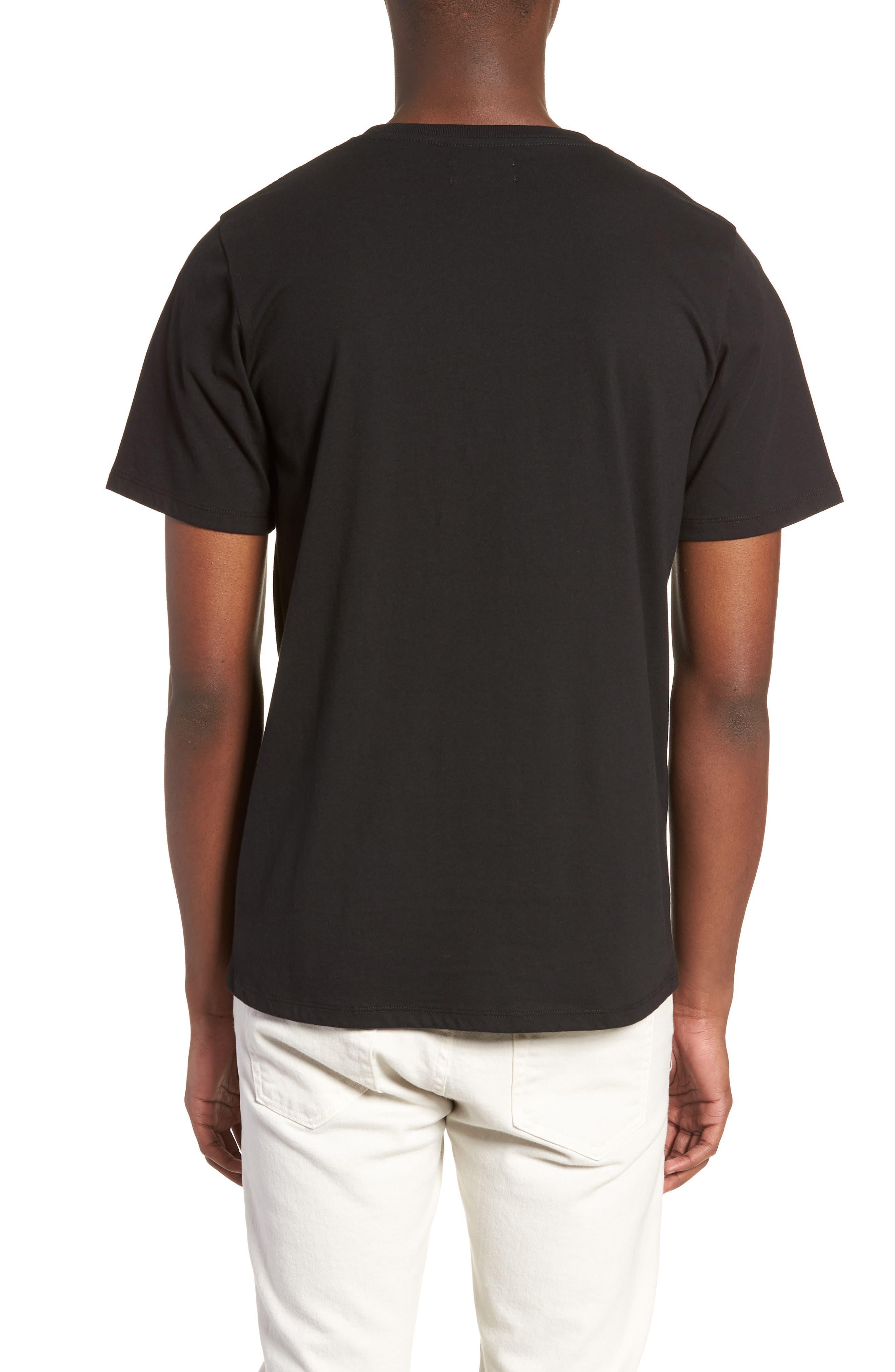Embroidered Slash T-Shirt,                             Alternate thumbnail 2, color,                             Black