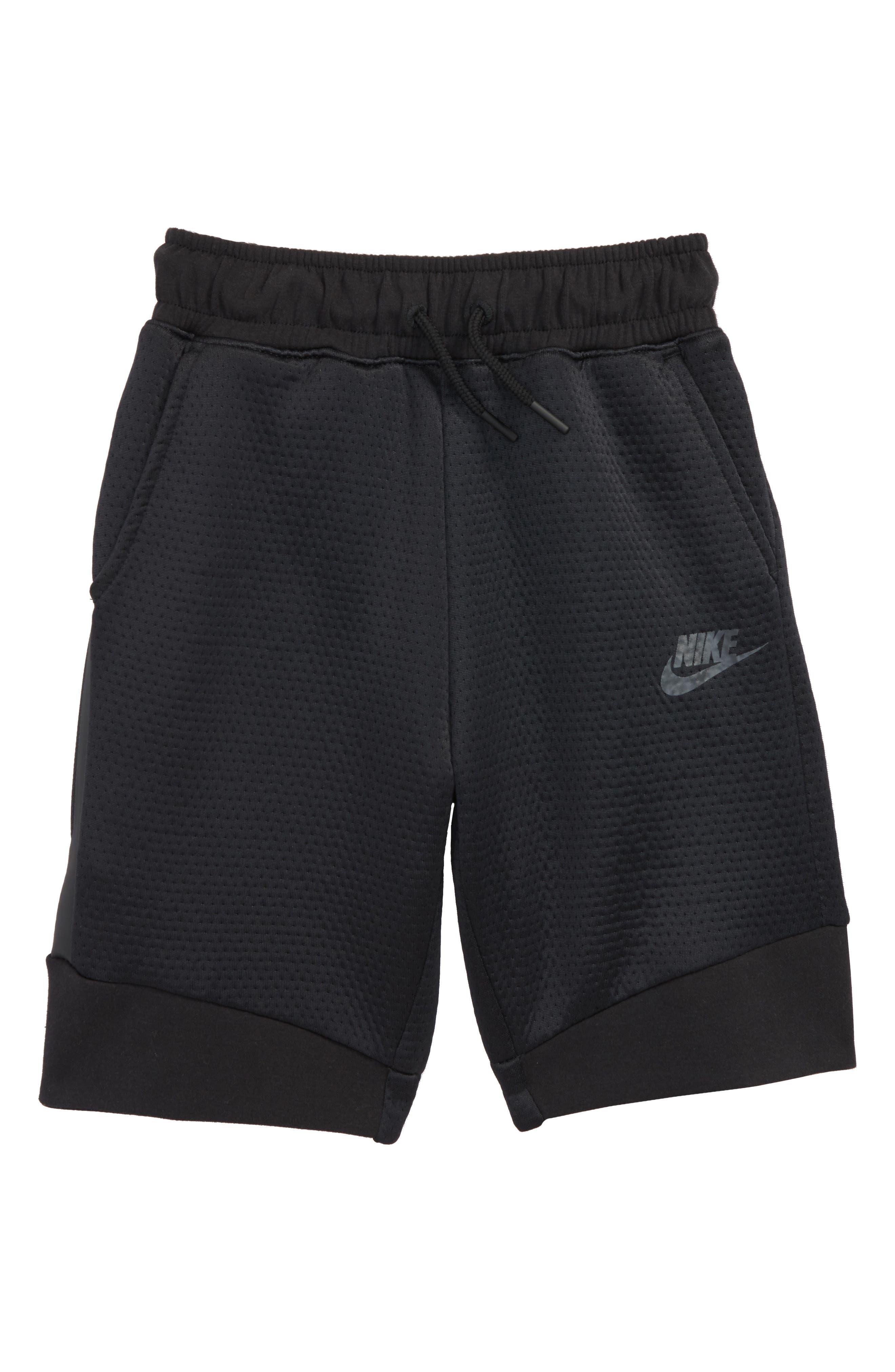 Tech Fleece Shorts,                             Main thumbnail 1, color,                             Black