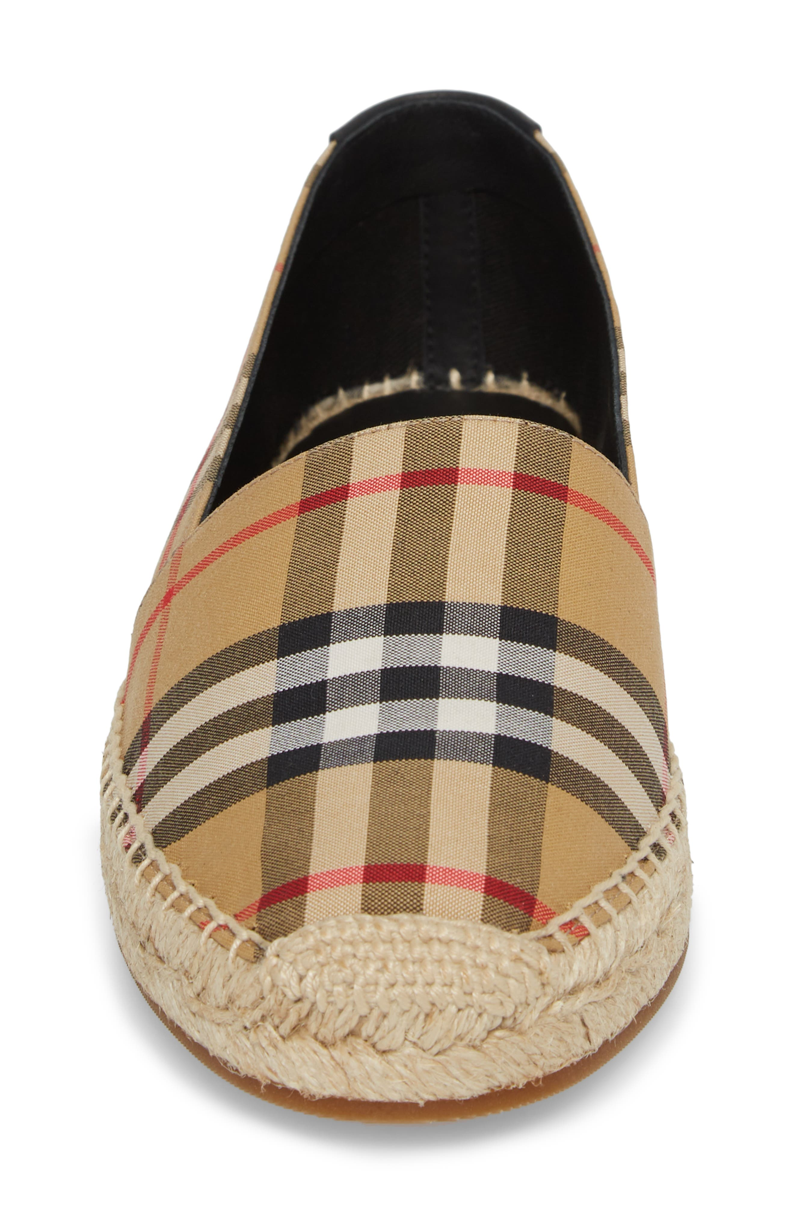 Hodgeson Check Espadrille Flat,                             Alternate thumbnail 4, color,                             Yellow