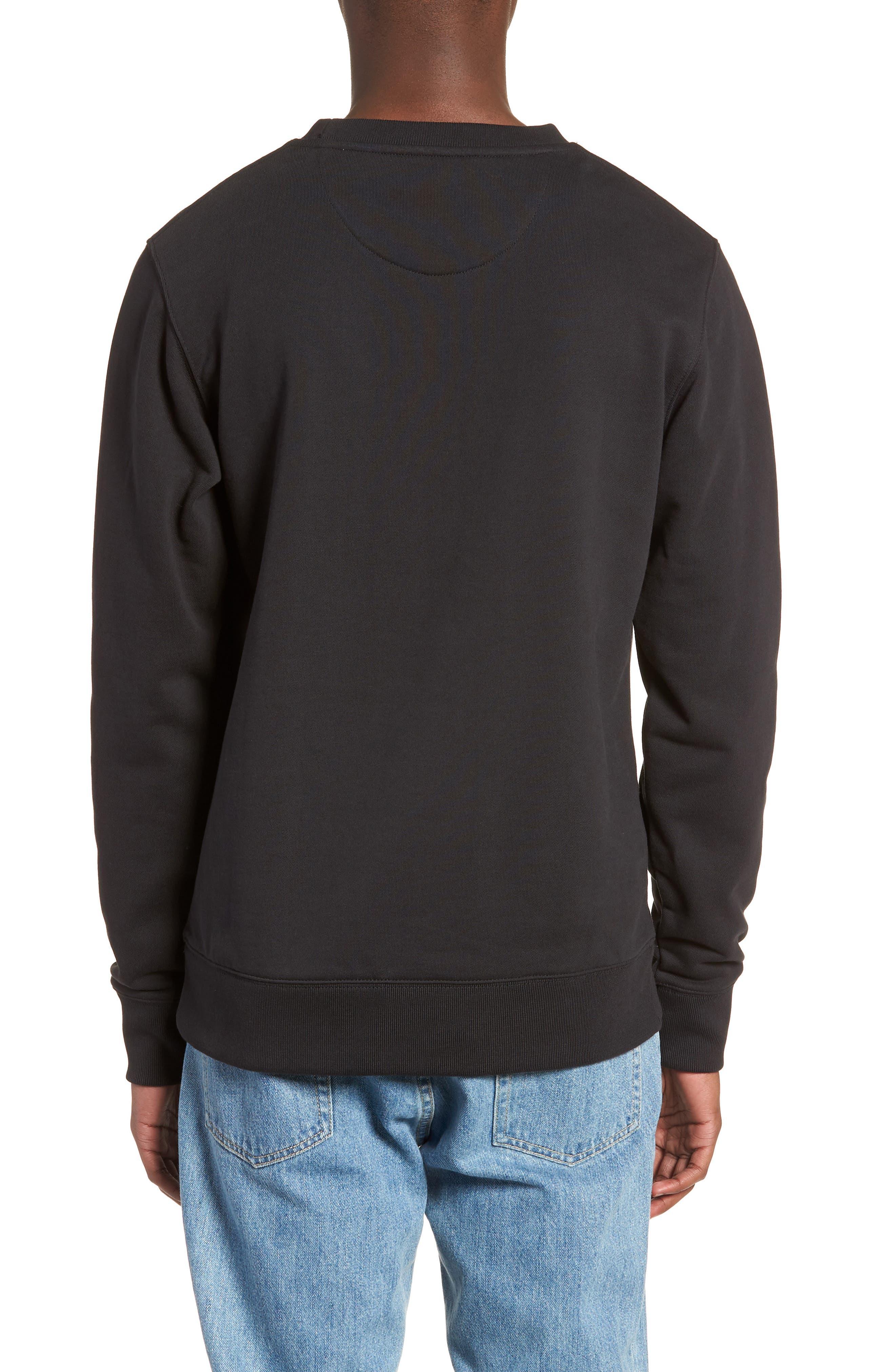 Bowery Slash Sweatshirt,                             Alternate thumbnail 2, color,                             Black