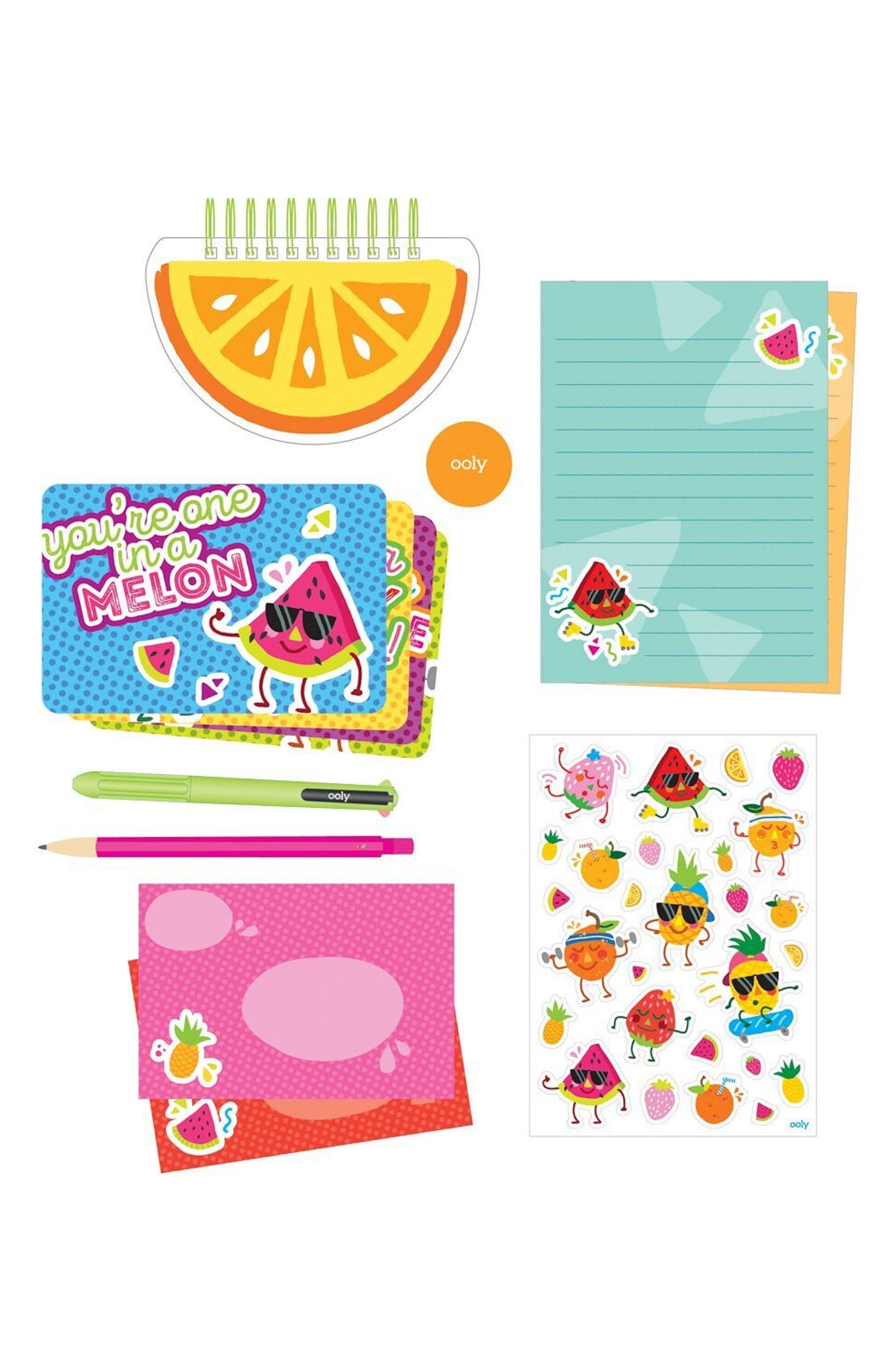 Ooly Fresh Fruit Travel Stationary Kit,                             Alternate thumbnail 2, color,                             Multi