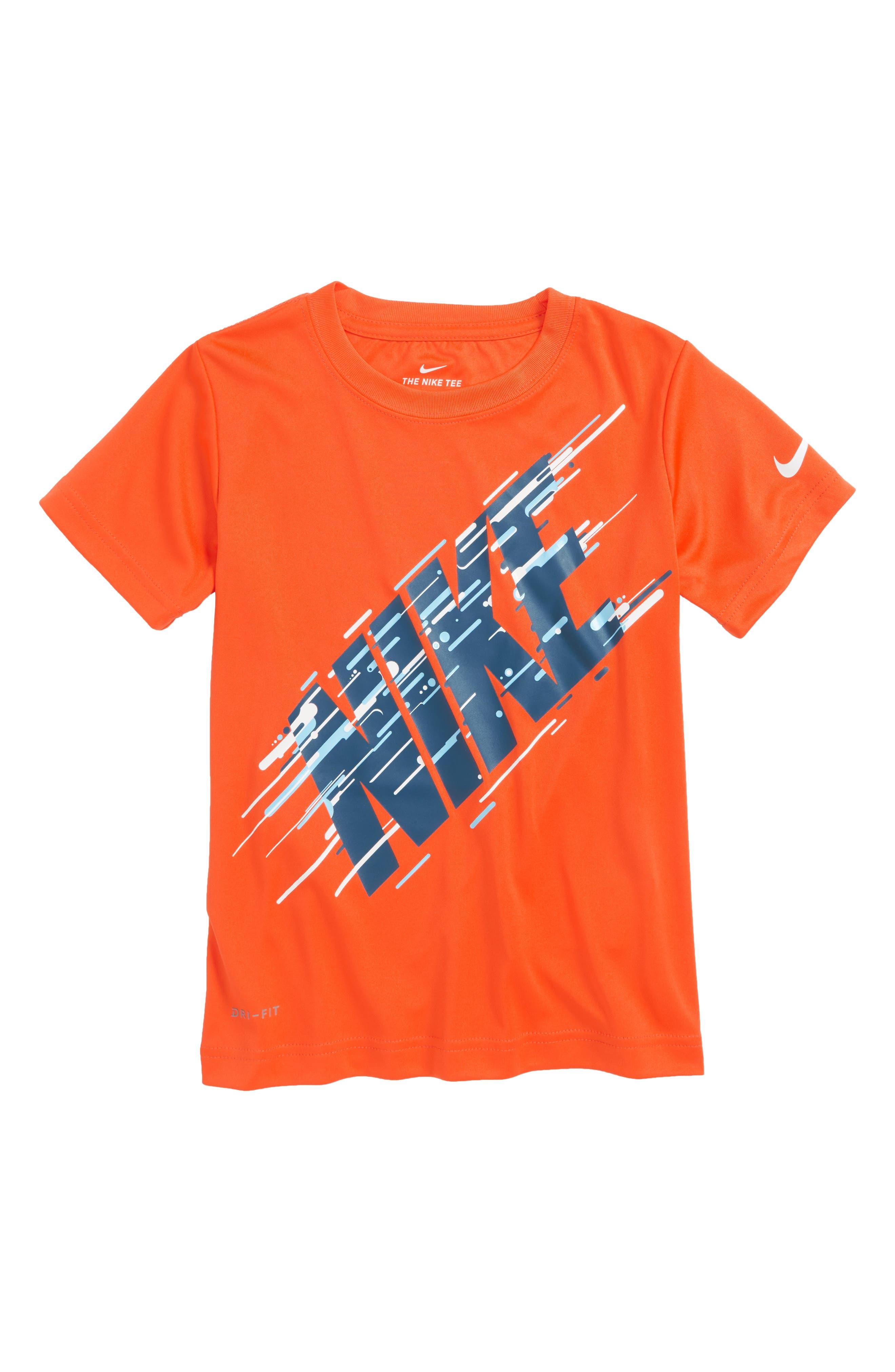 Motion Logo Graphic T-Shirt,                         Main,                         color, Rush Orange
