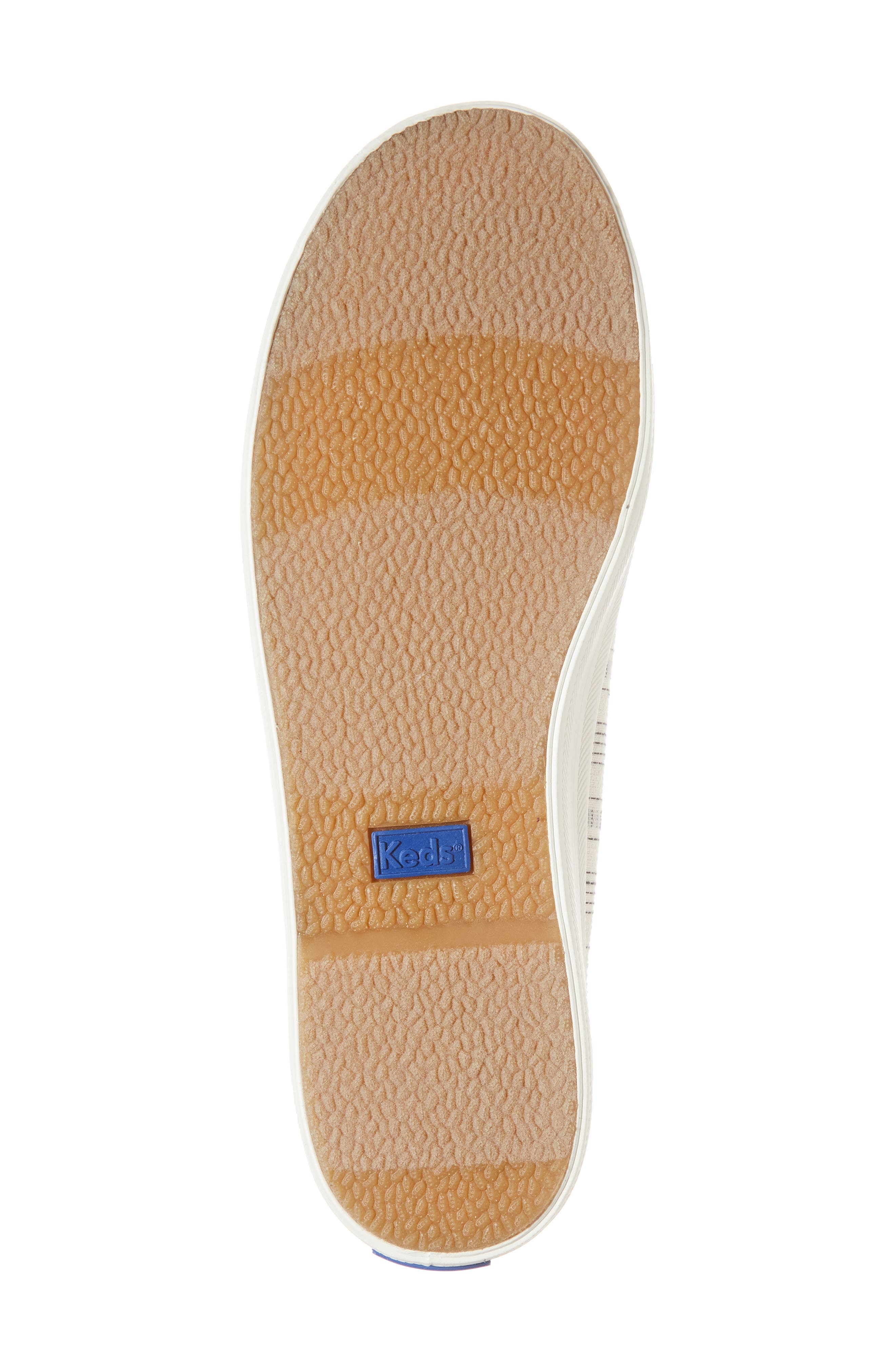 Kickstart Summer Stripe Sneaker,                             Alternate thumbnail 6, color,                             Cream