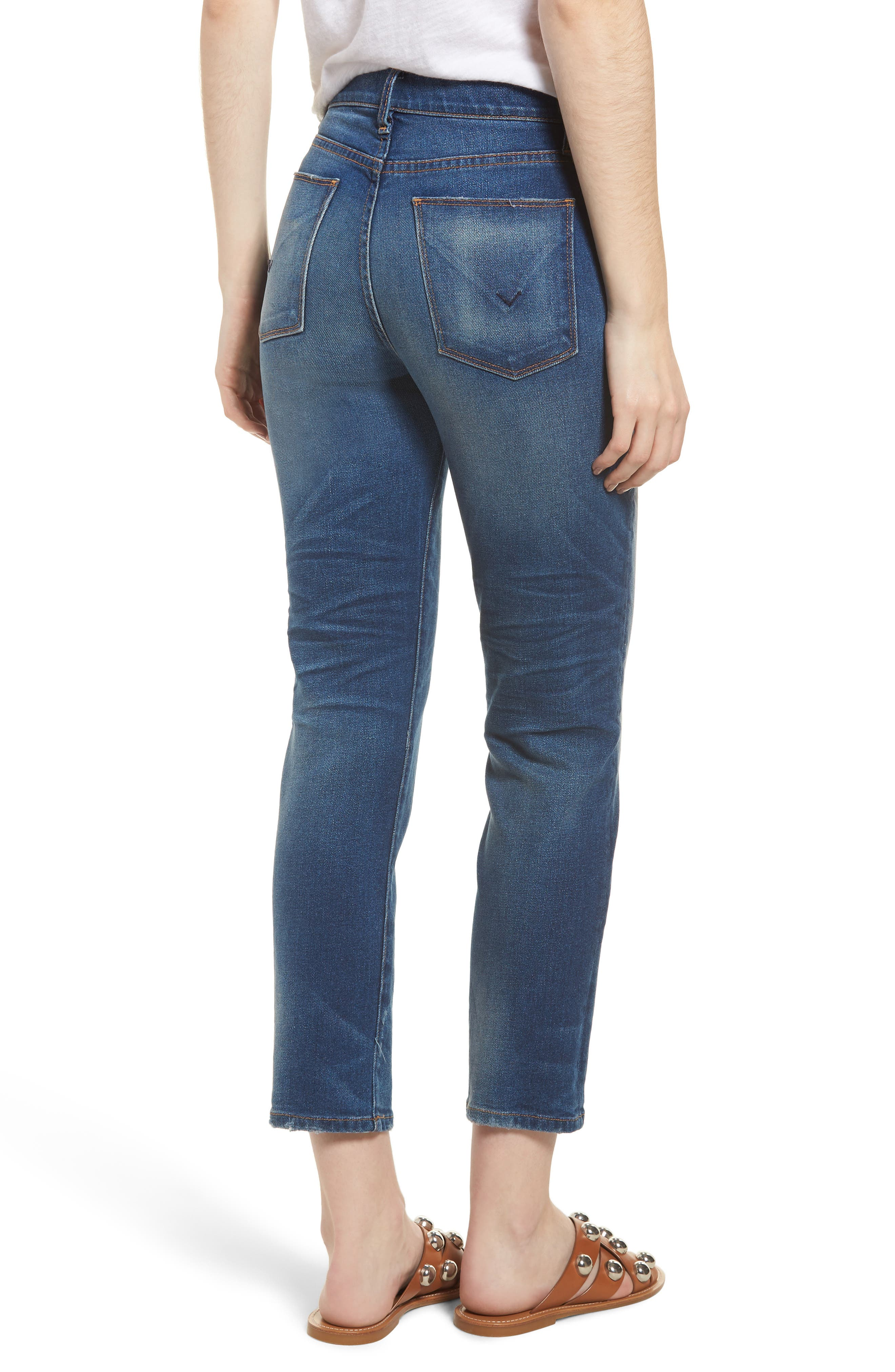 Zoeey High Waist Crop Straight Leg Jeans,                             Alternate thumbnail 2, color,                             Undenied