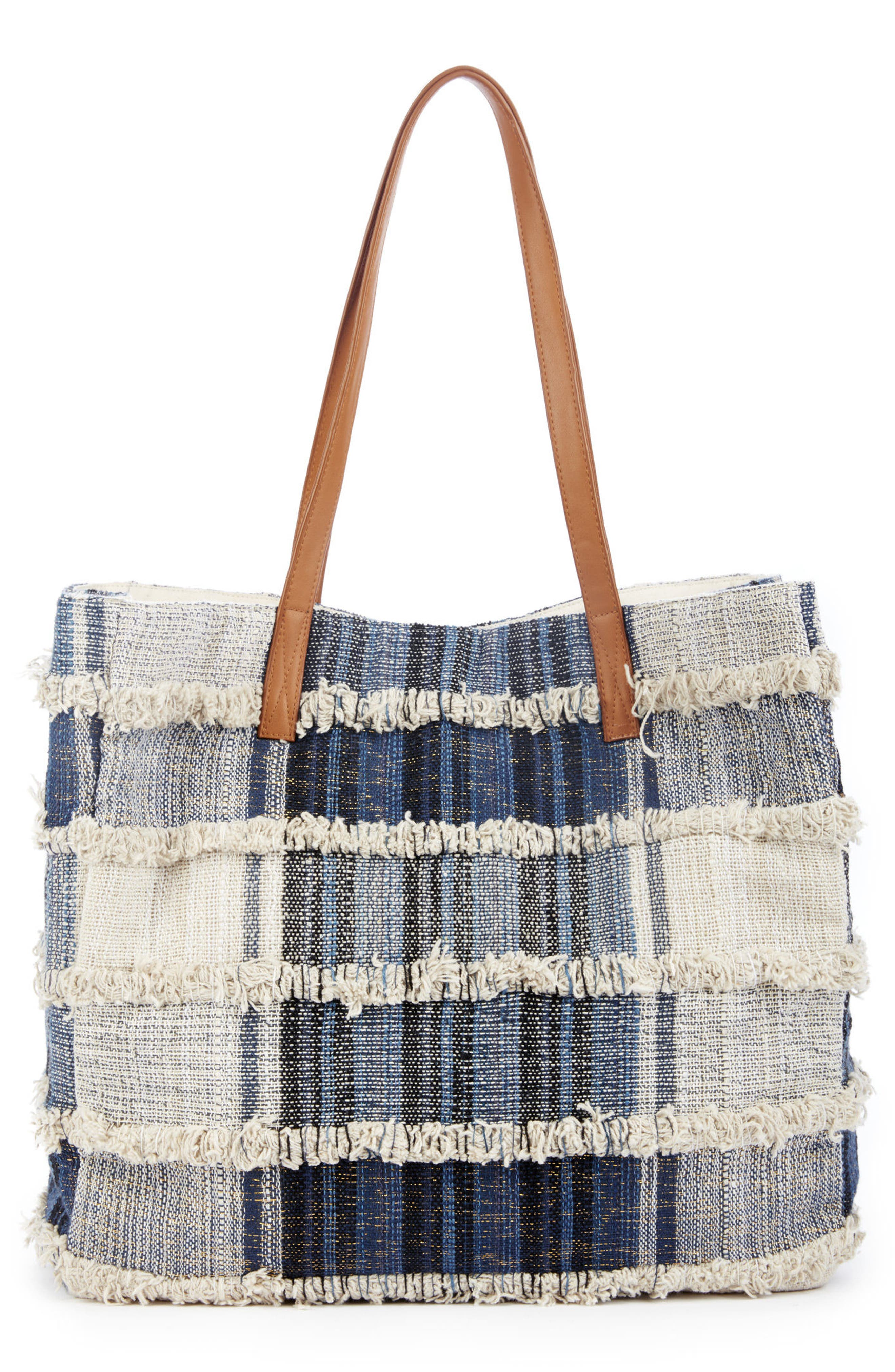 Alternate Image 2  - Sole Society Patchwork Denim Tote