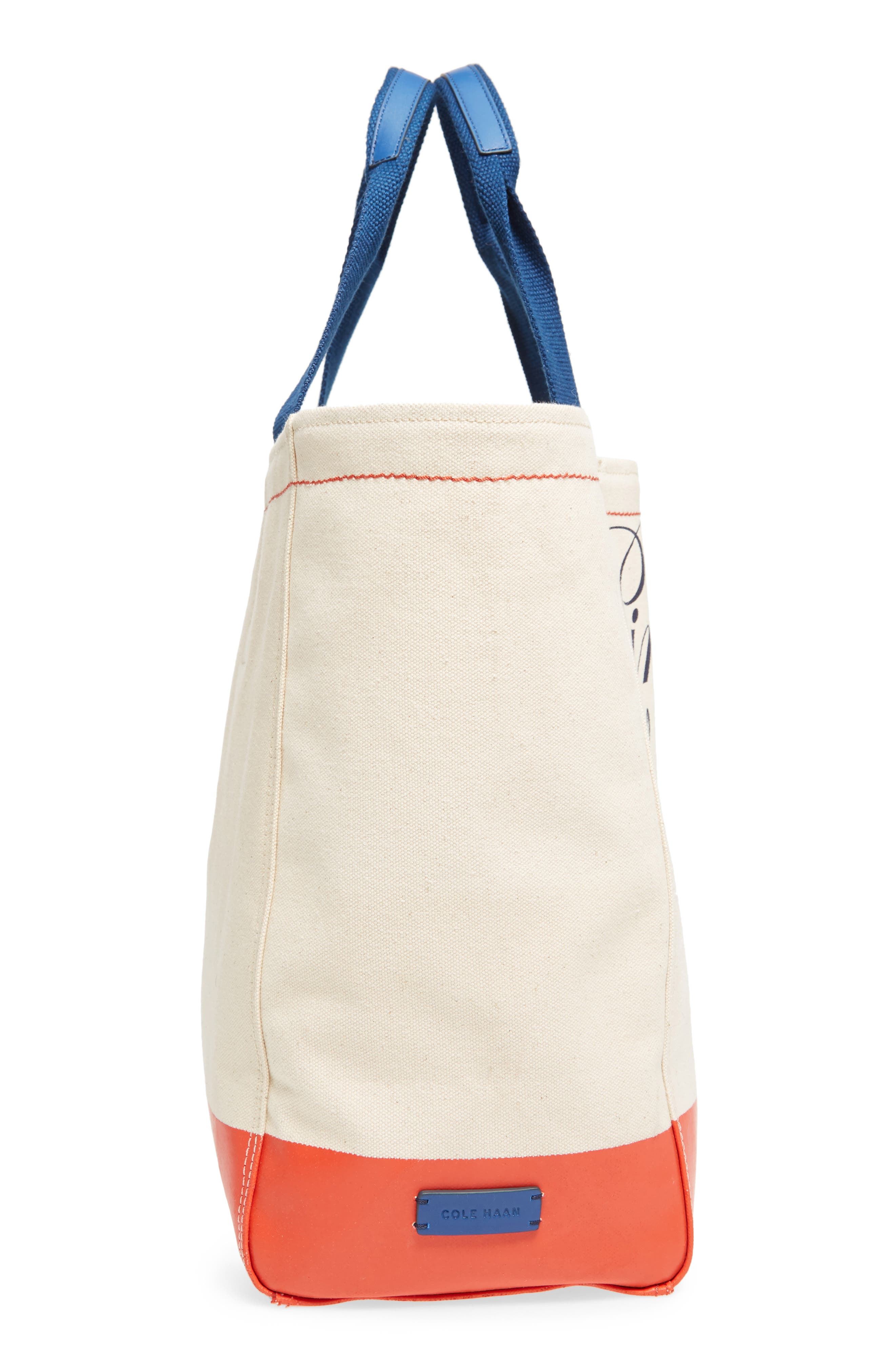 Pinch Canvas Tote,                             Alternate thumbnail 5, color,                             Lobster Print