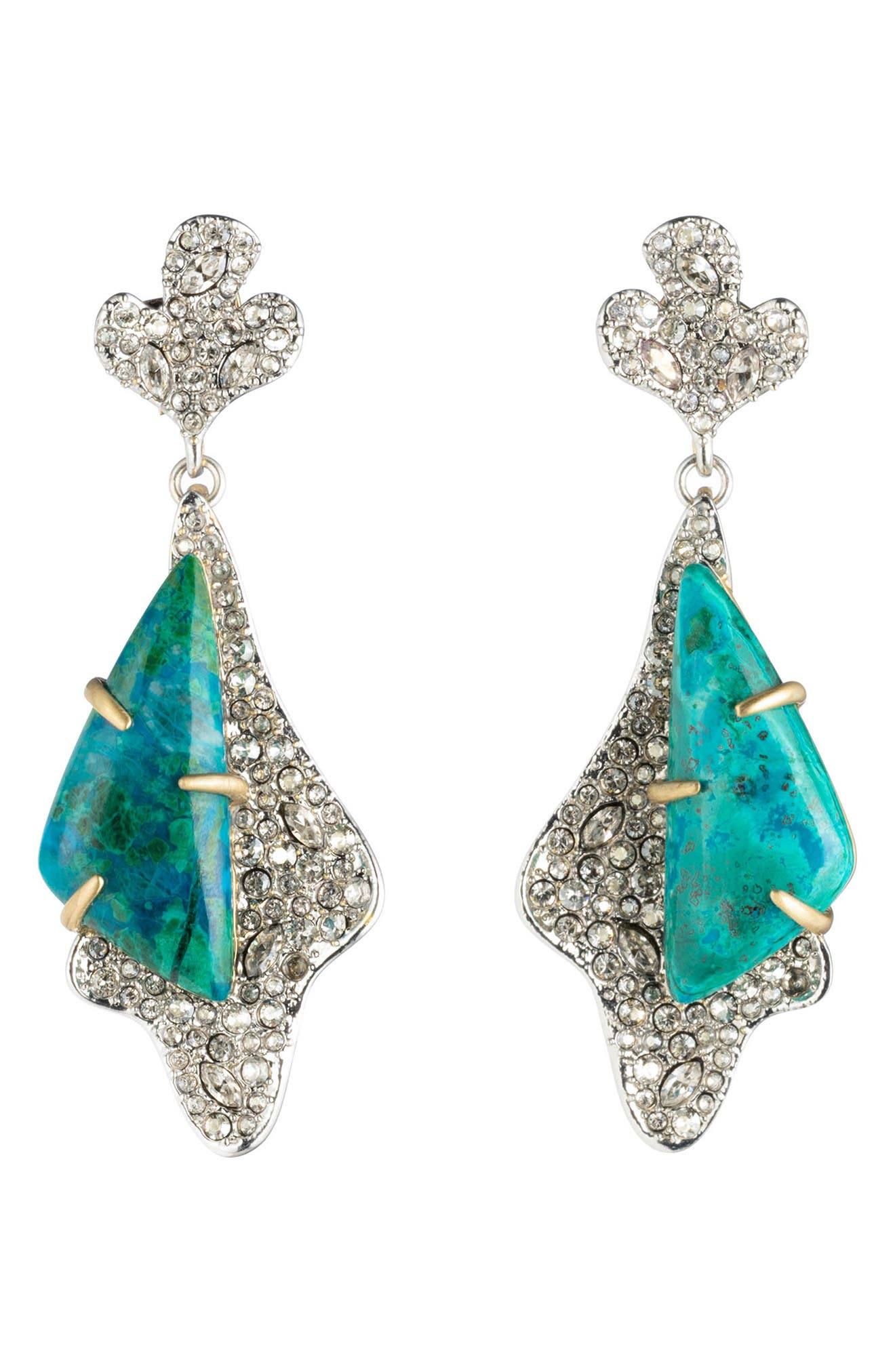 Alexis Bittar Roxbury Crystal Encrusted Post Earrings