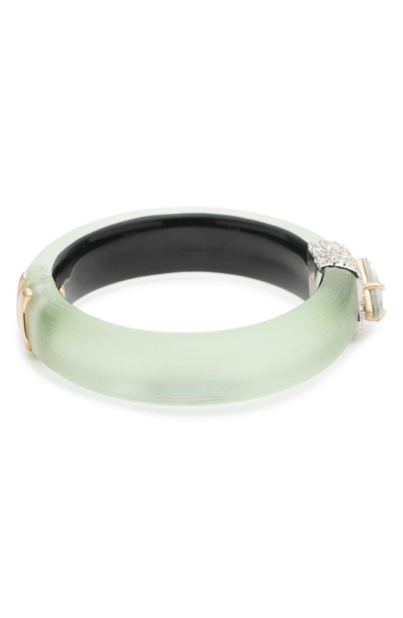 Crystal Encrusted Roxbury Bracelet,                             Alternate thumbnail 3, color,                             Seafoam