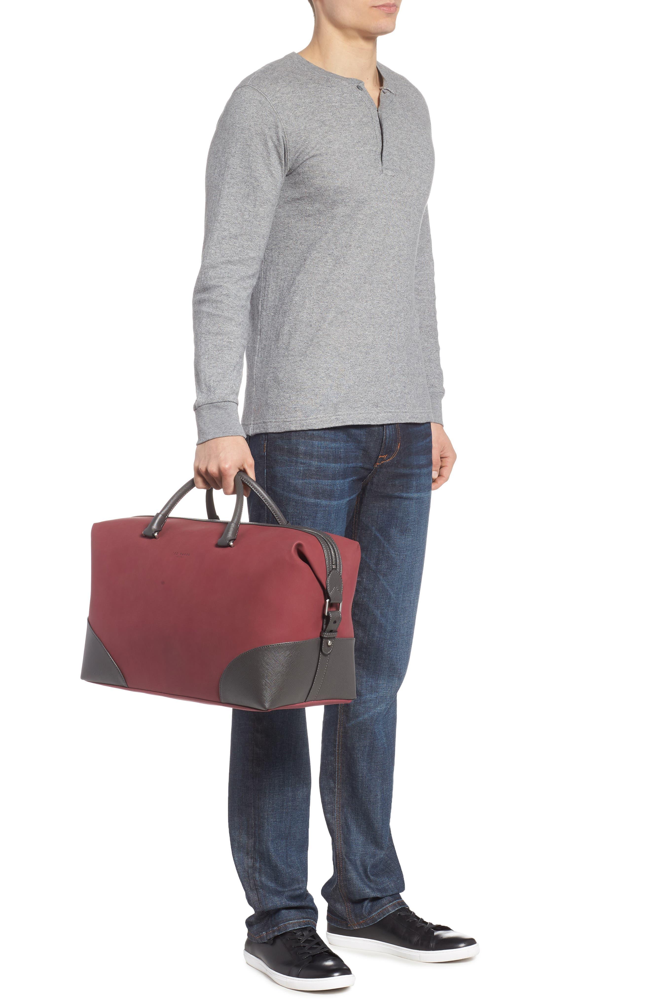 Swipes Duffel Bag,                             Alternate thumbnail 2, color,                             Red