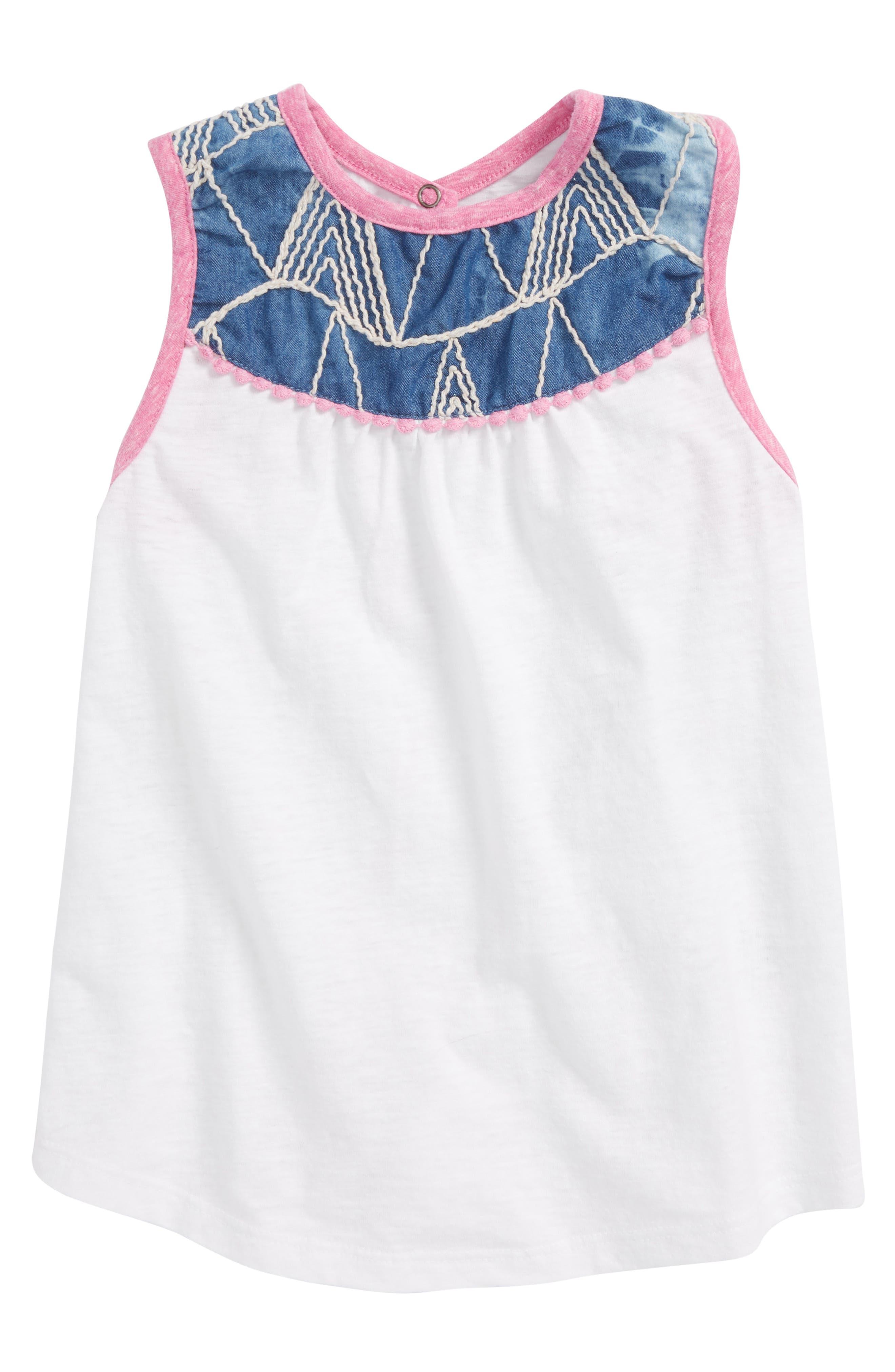 Mikki Miette Alma Embroidered Tank (Toddler Girls & Little Girls)