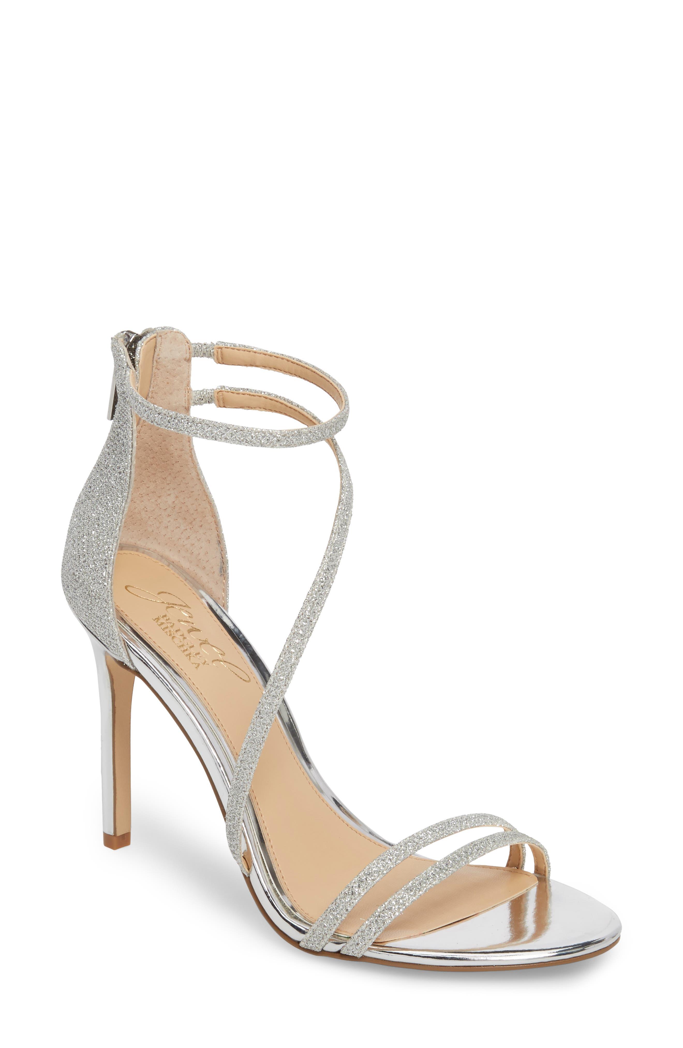 Jewel Badgley Mischka Gail Crystal Embellished Sandal (Women)