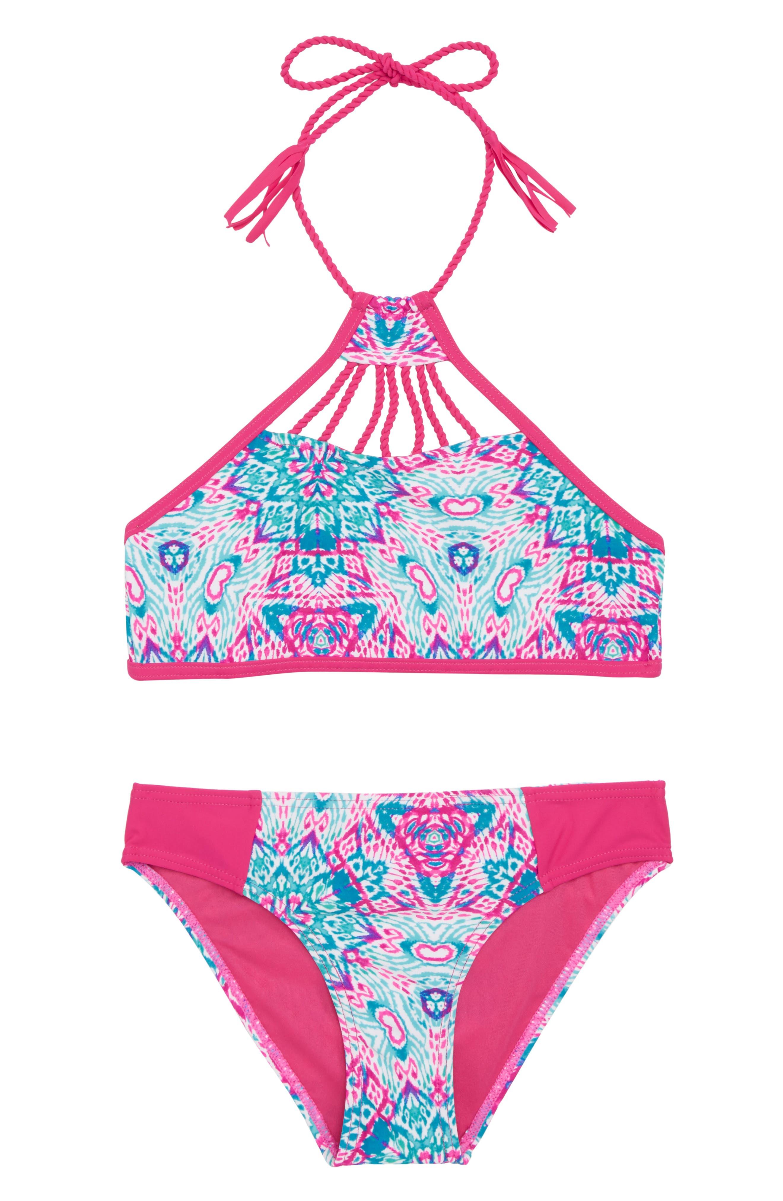 Vigoss Braided Detail Two-Piece Swimsuit (Big Girls)