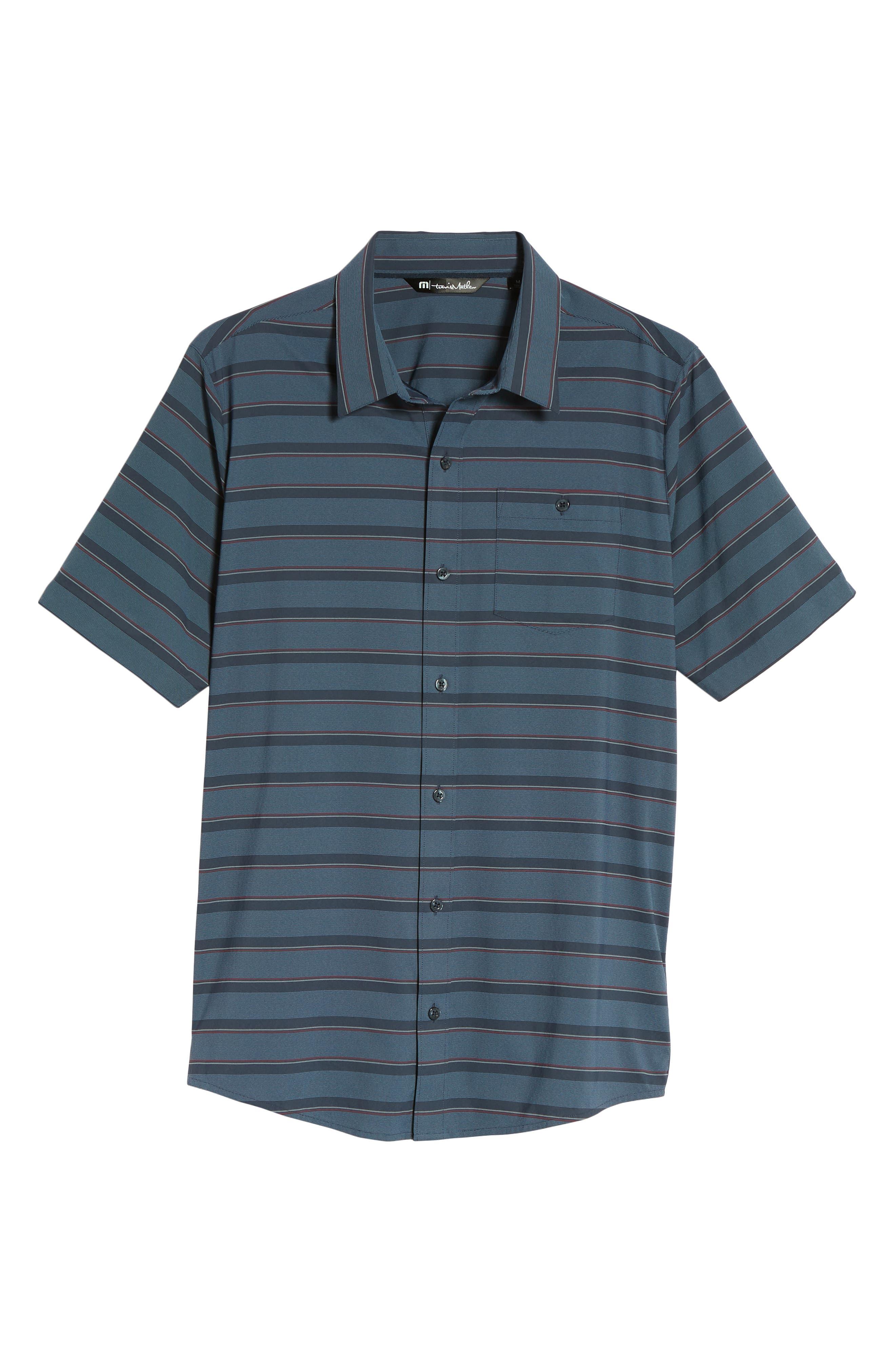 Quiver Regular Fit Sport Shirt,                             Alternate thumbnail 6, color,                             Blue Nights