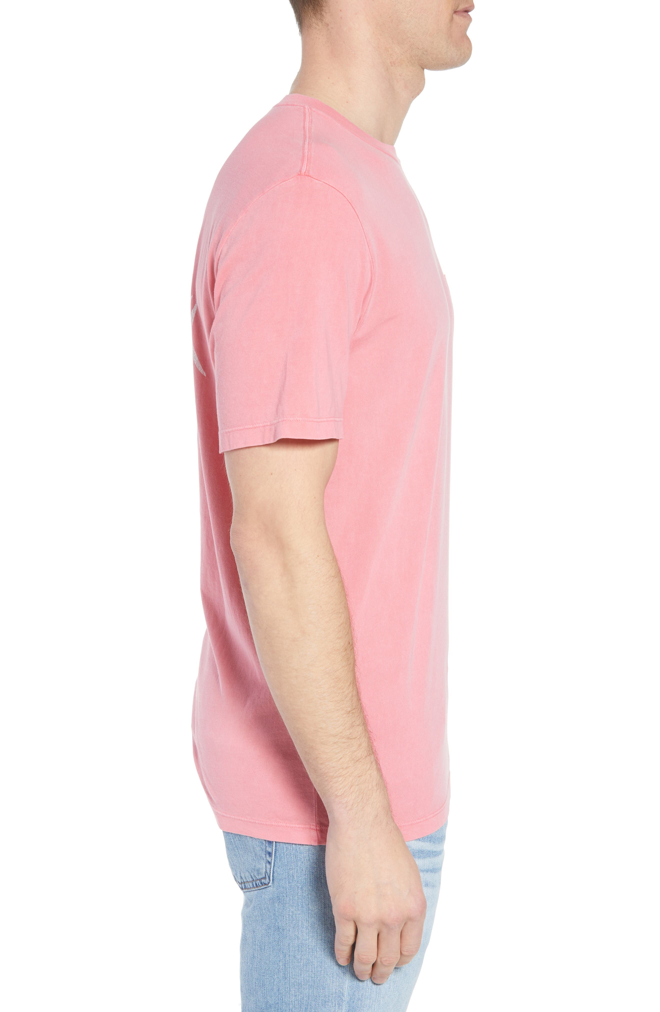 Vintage Mahi Regular Fit Crewneck T-Shirt,                             Alternate thumbnail 3, color,                             Jetty Red