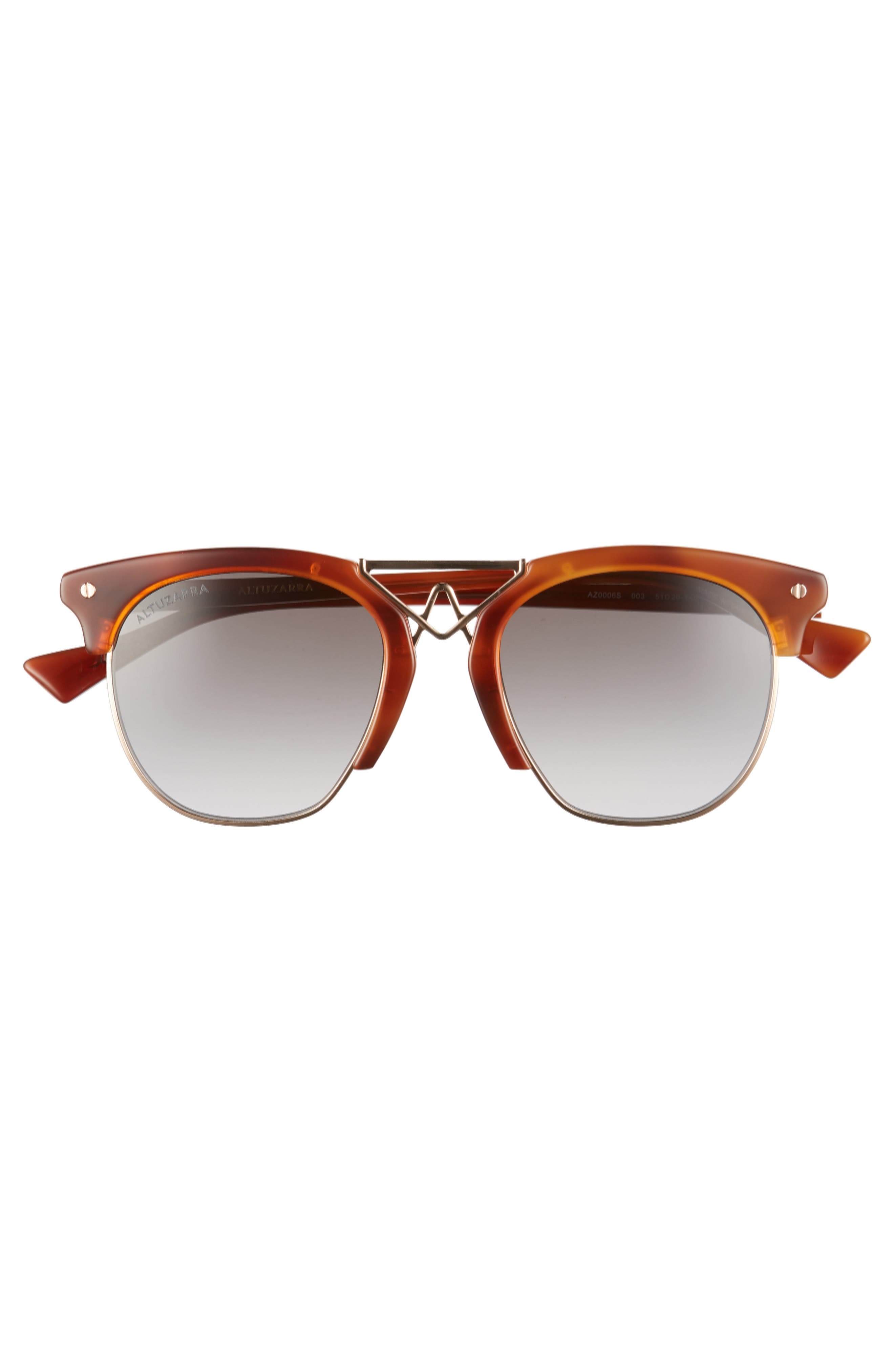 51mm Round Sunglasses,                             Alternate thumbnail 3, color,                             Havana