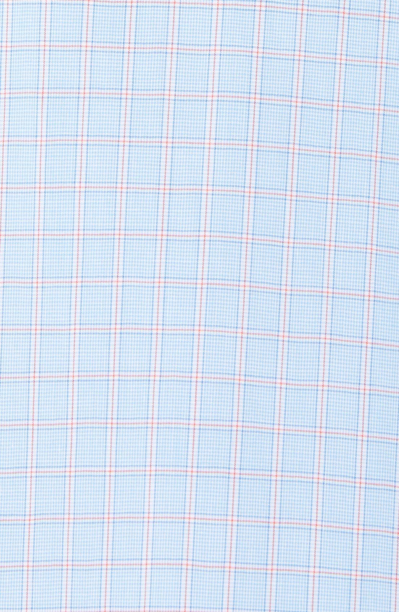 Buck Island Regular Fit Stretch Check Sport Shirt,                             Alternate thumbnail 5, color,                             Blue Stream