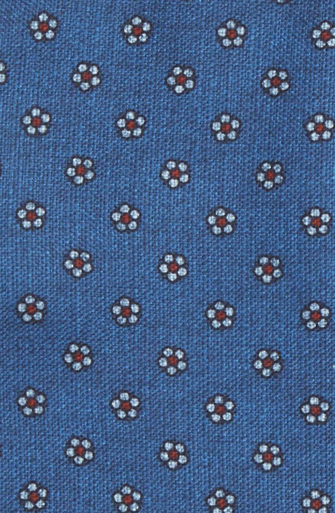 Floral Medallion Pocket Square,                             Alternate thumbnail 3, color,                             Blue
