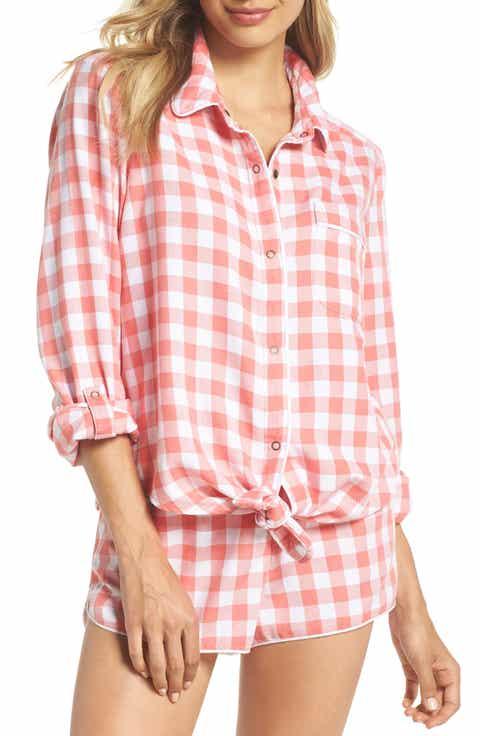 Make + Model Tie Front Sleep Shirt