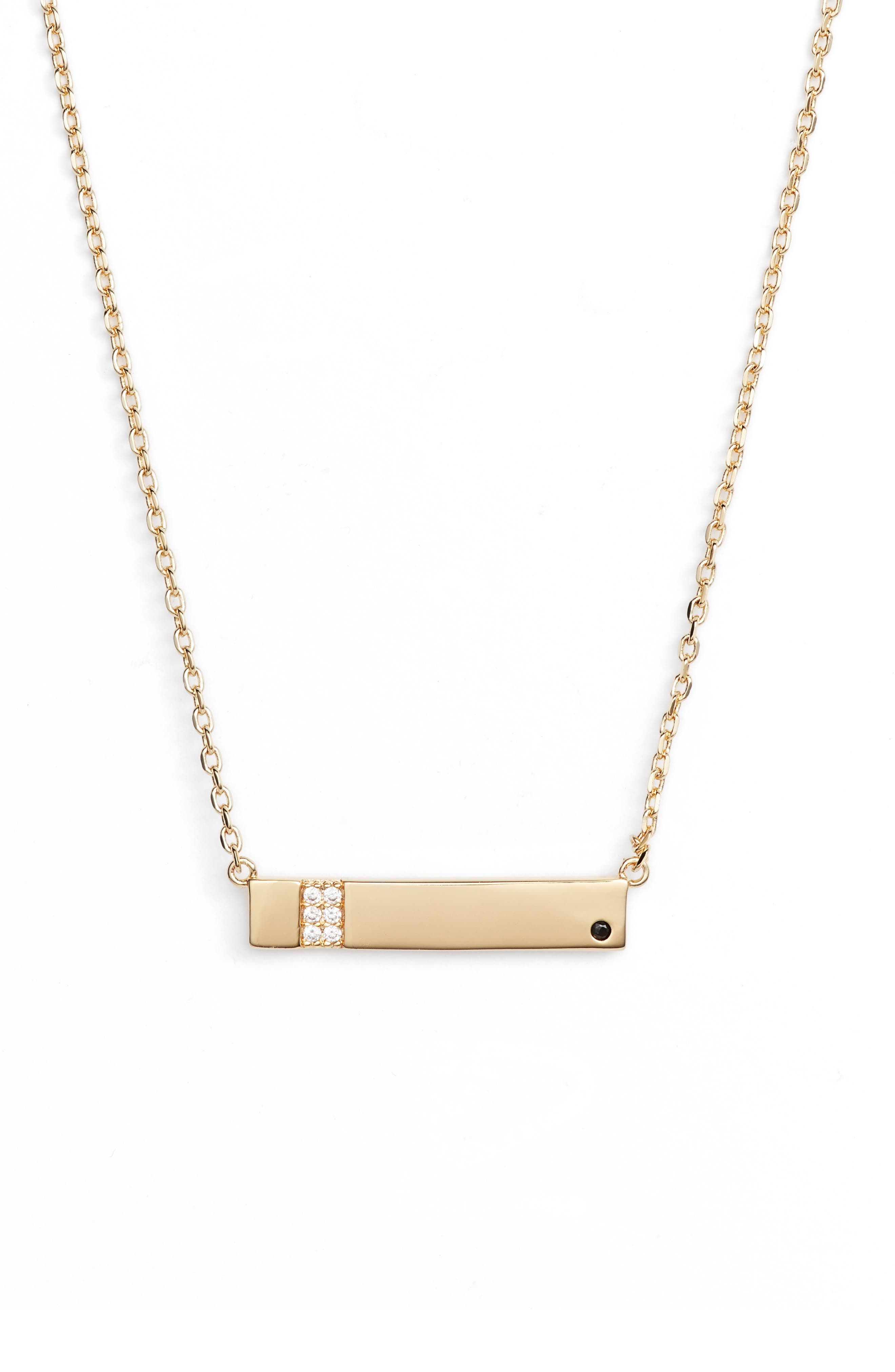 x We Wore What Horizontal Bar Necklace,                             Main thumbnail 1, color,                             Gold