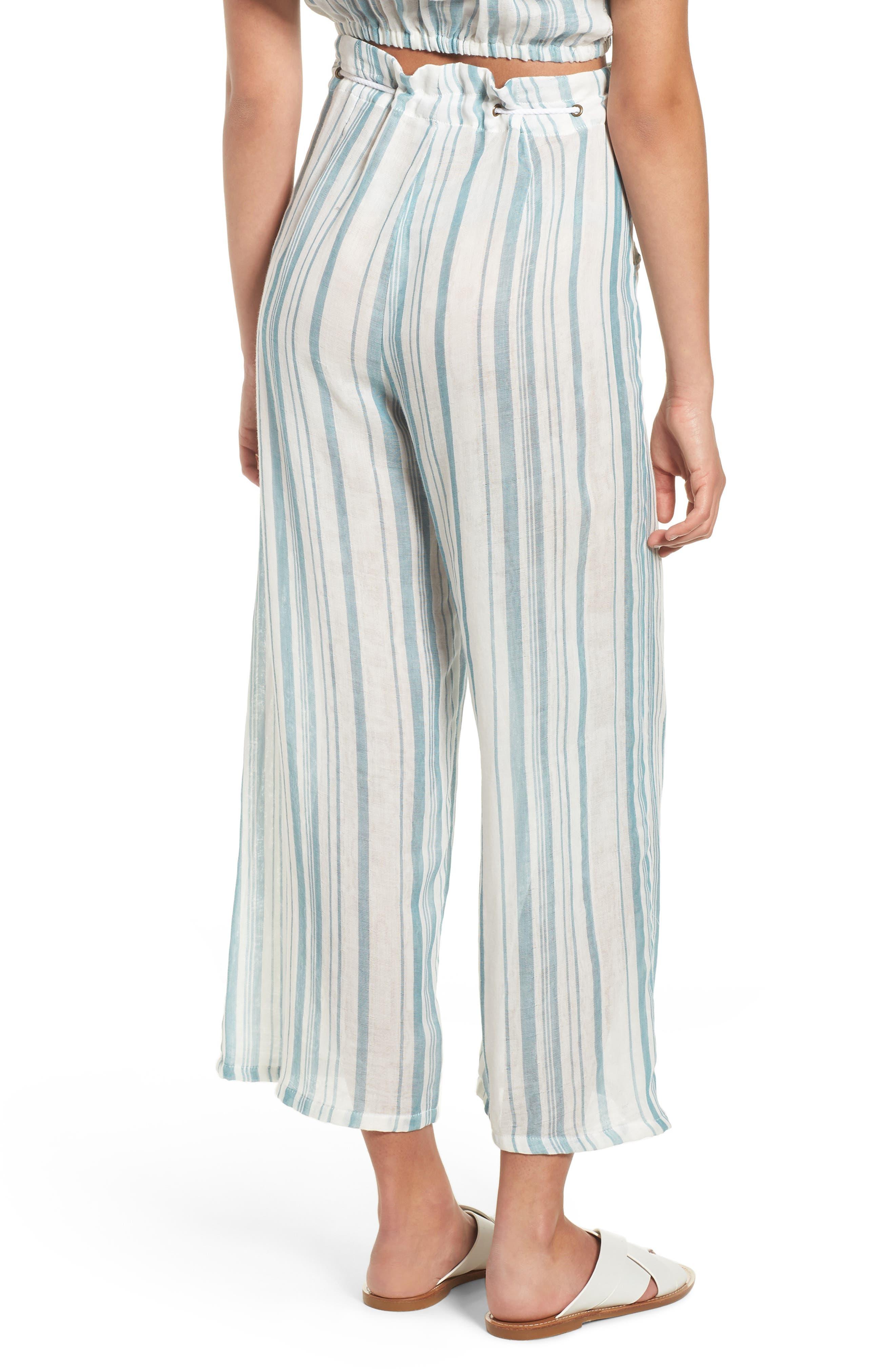 Peterson Wide Leg Pants,                             Alternate thumbnail 9, color,                             Point Dume Stripe