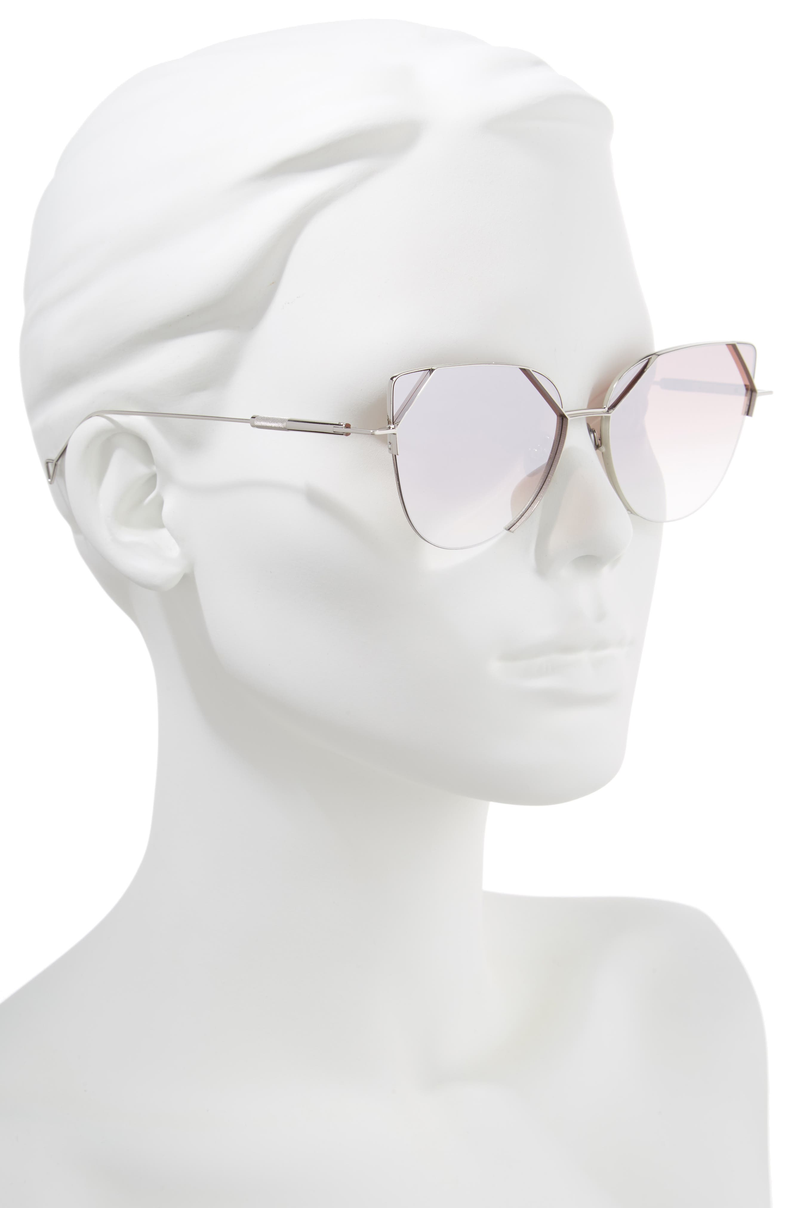 The Schema 59mm Cat Eye Sunglasses,                             Alternate thumbnail 2, color,                             Pearl