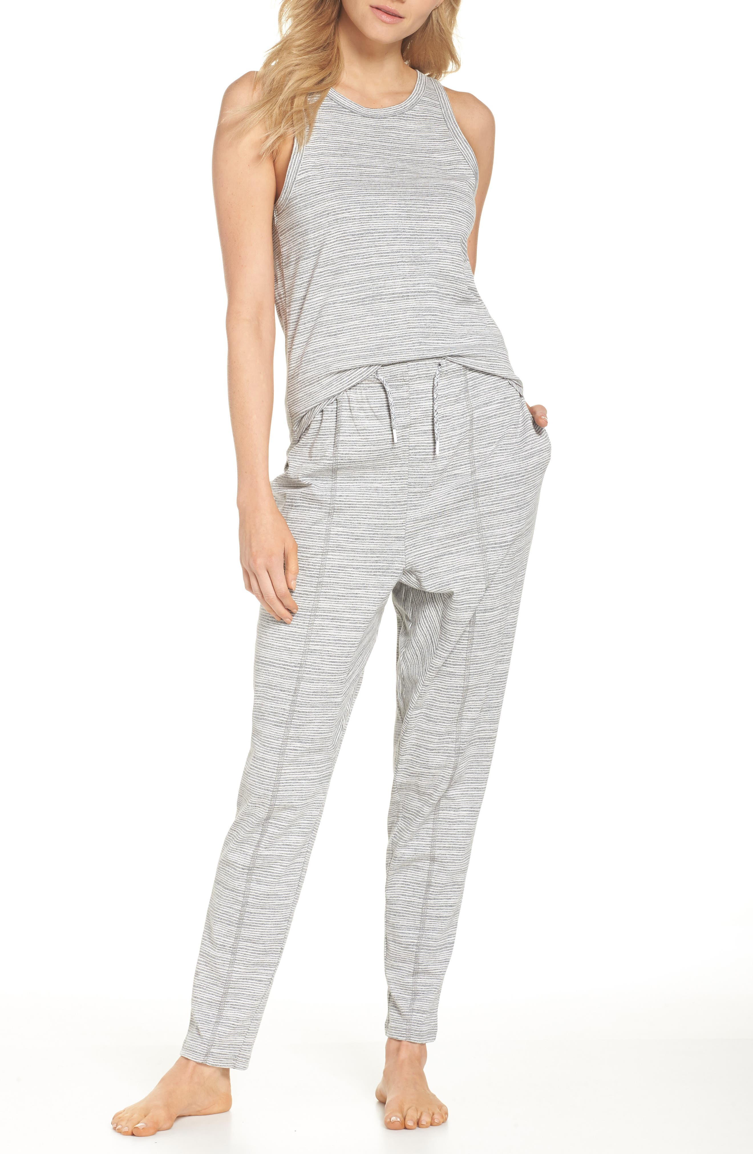 Ash Stripe Lounge Pants,                             Alternate thumbnail 5, color,                             Ash Marle Stripe