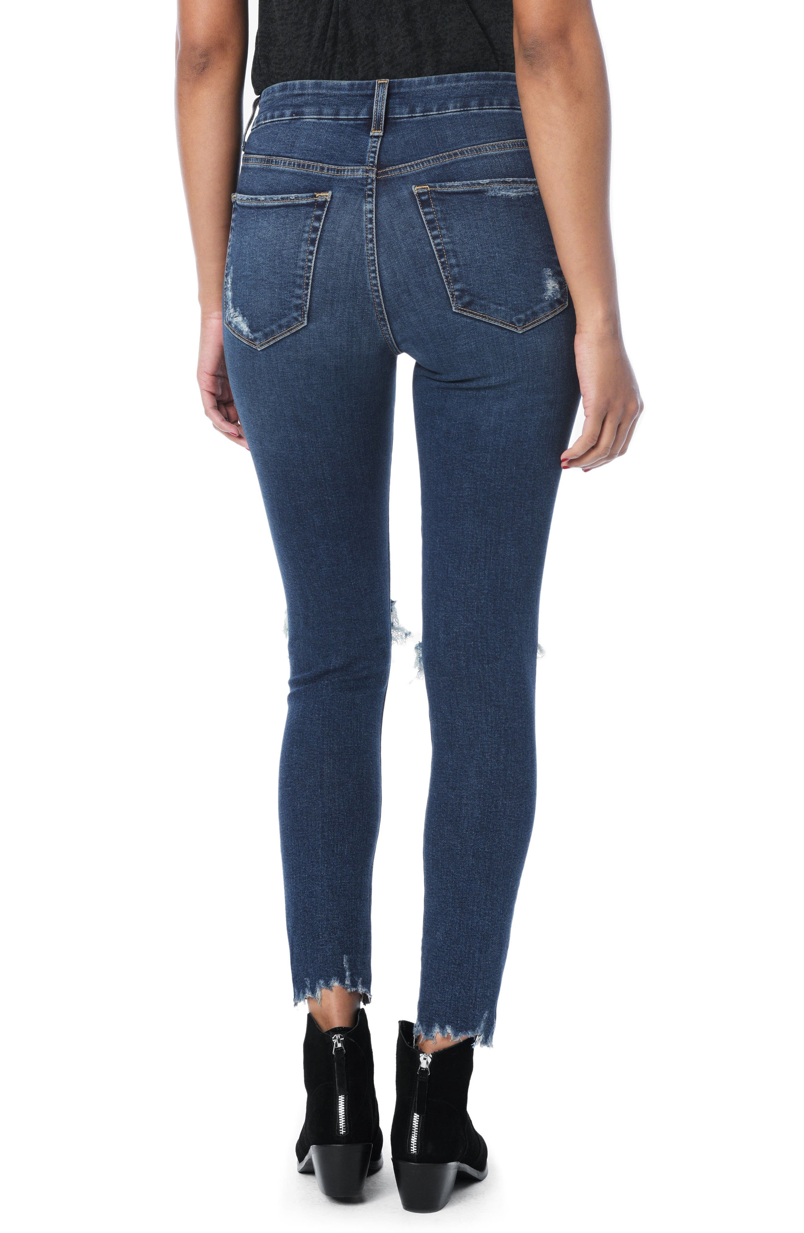 Honey Curvy High Waist Ankle Skinny Jeans,                             Alternate thumbnail 3, color,                             Rocky
