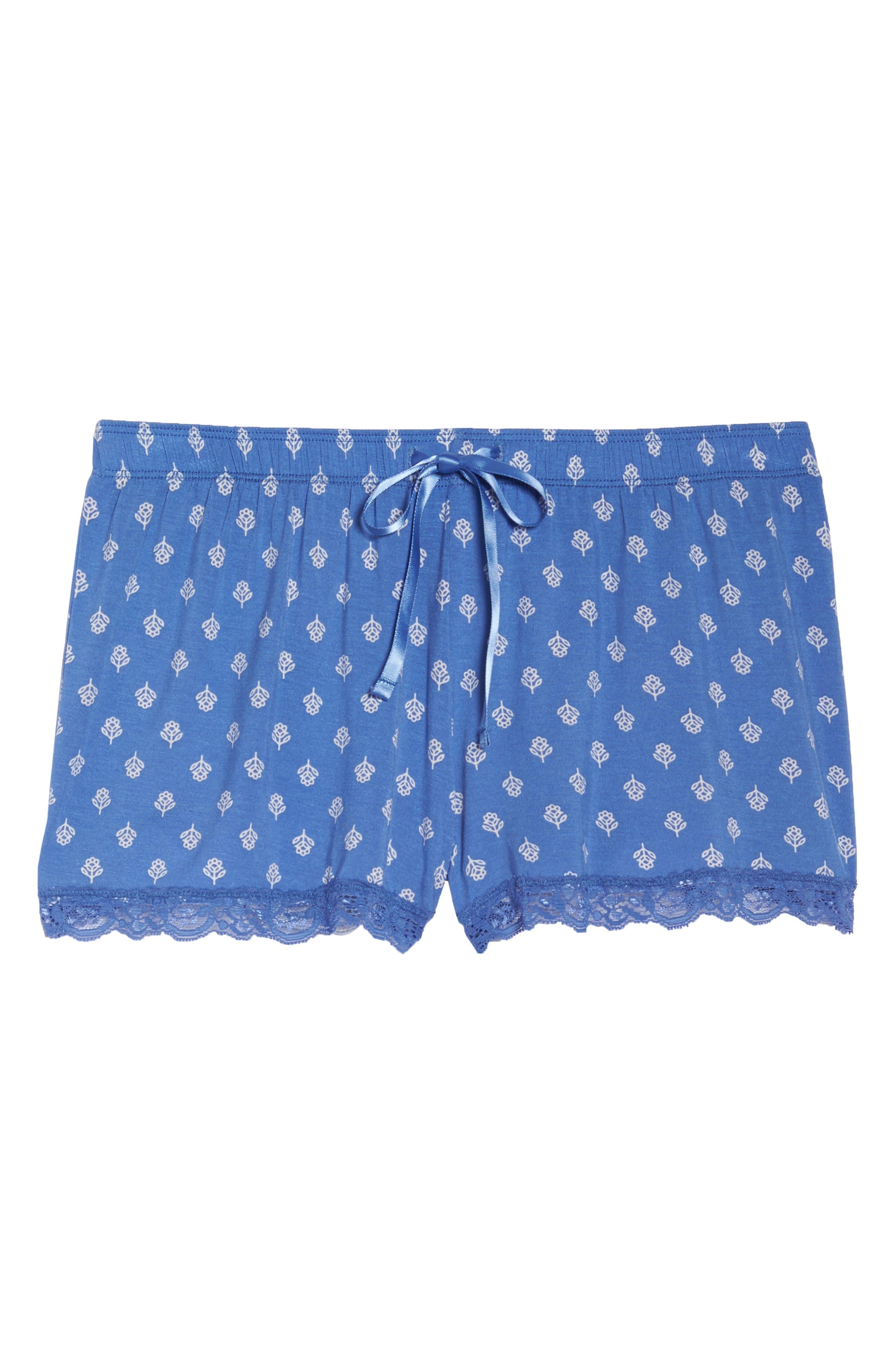 Pajama Shorts,                             Alternate thumbnail 5, color,                             Blue