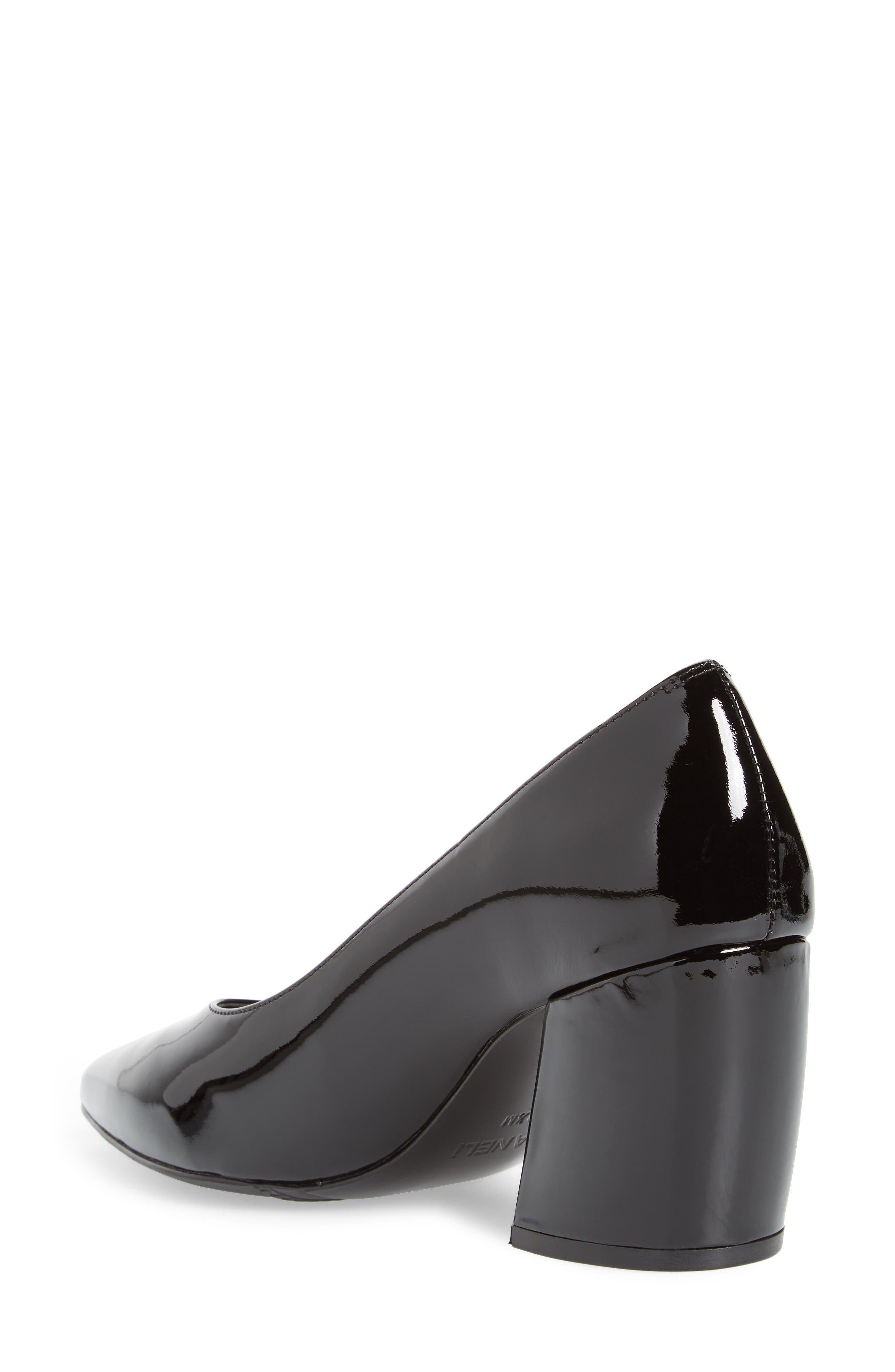 Remma Broken Heel Pump,                             Alternate thumbnail 2, color,                             Black Fabric