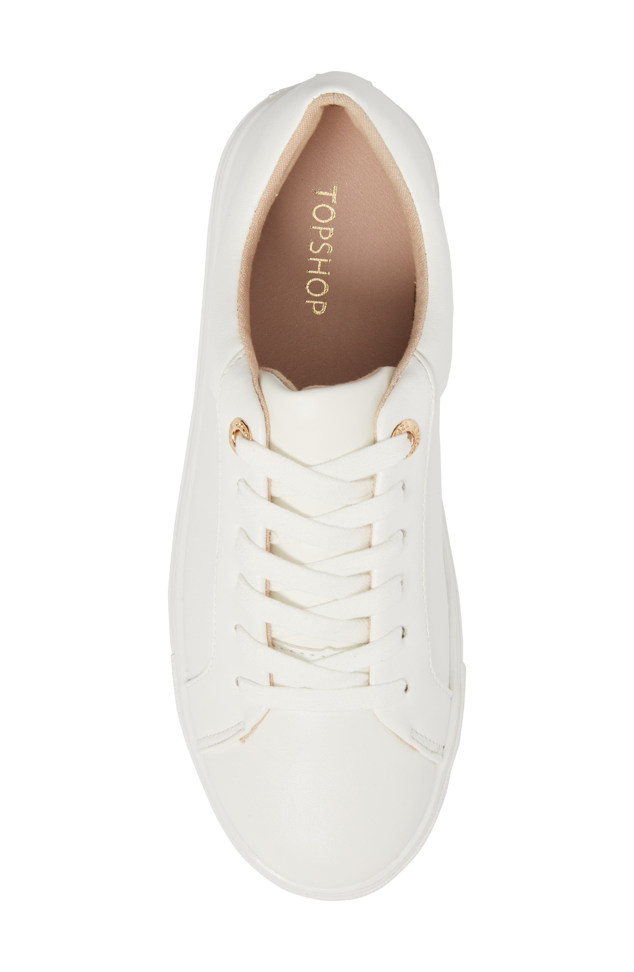Cookie Low Top Sneaker,                             Alternate thumbnail 5, color,                             White