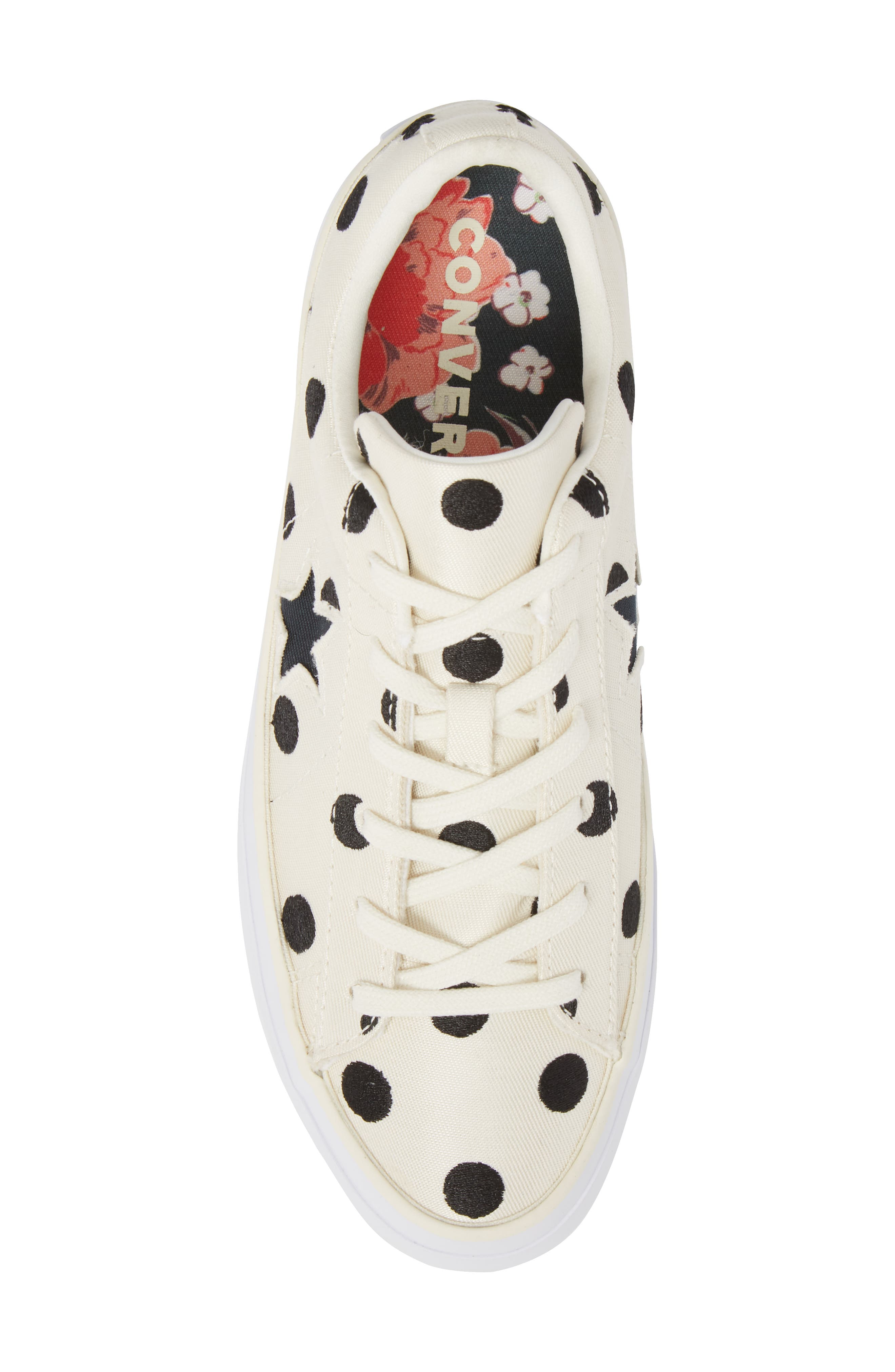 Chuck Taylor<sup>®</sup> One Star Platform Sneaker,                             Alternate thumbnail 5, color,                             Egret/ Black
