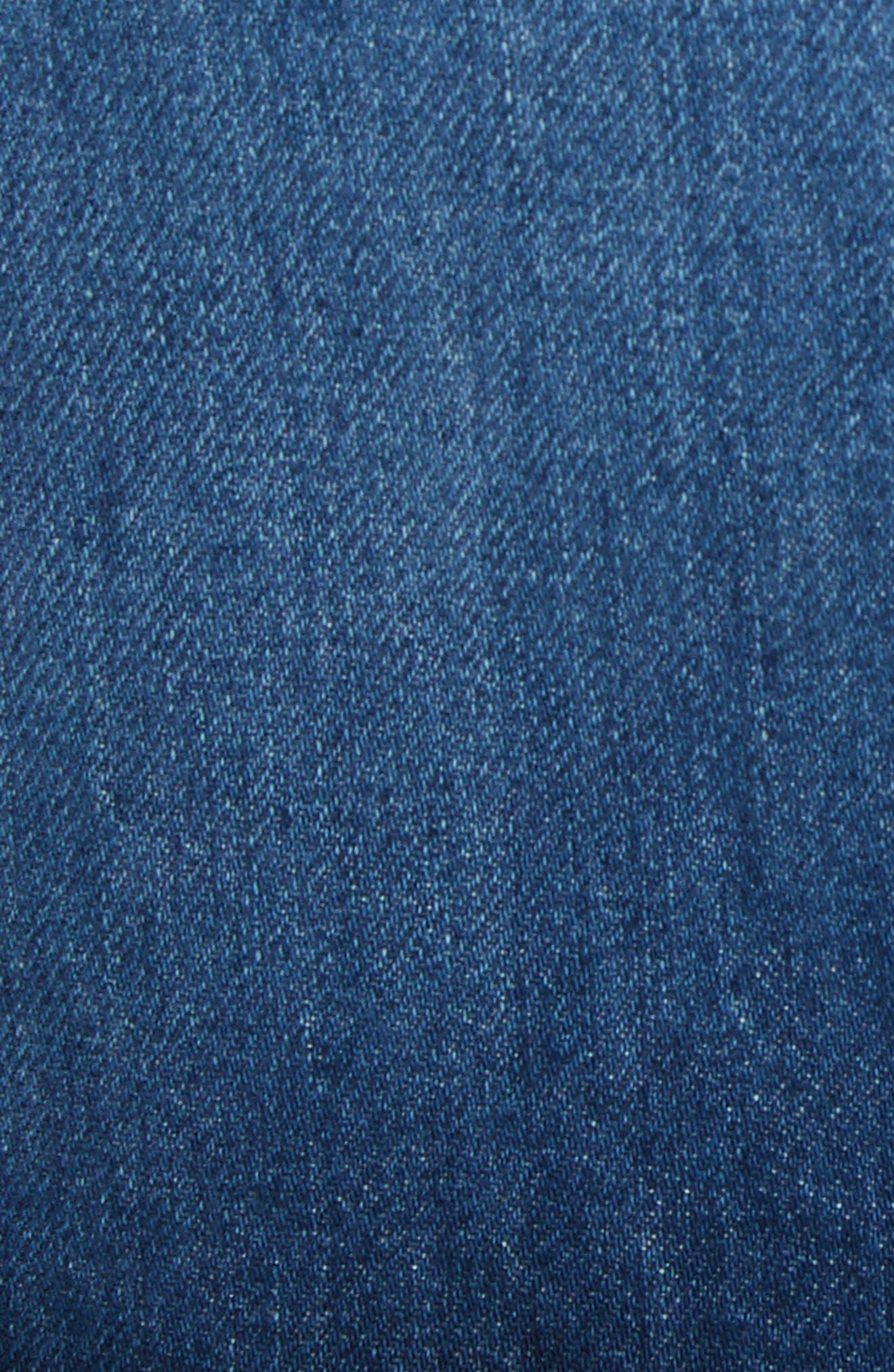 Celine Distressed Denim Skirt,                             Alternate thumbnail 5, color,                             Lela