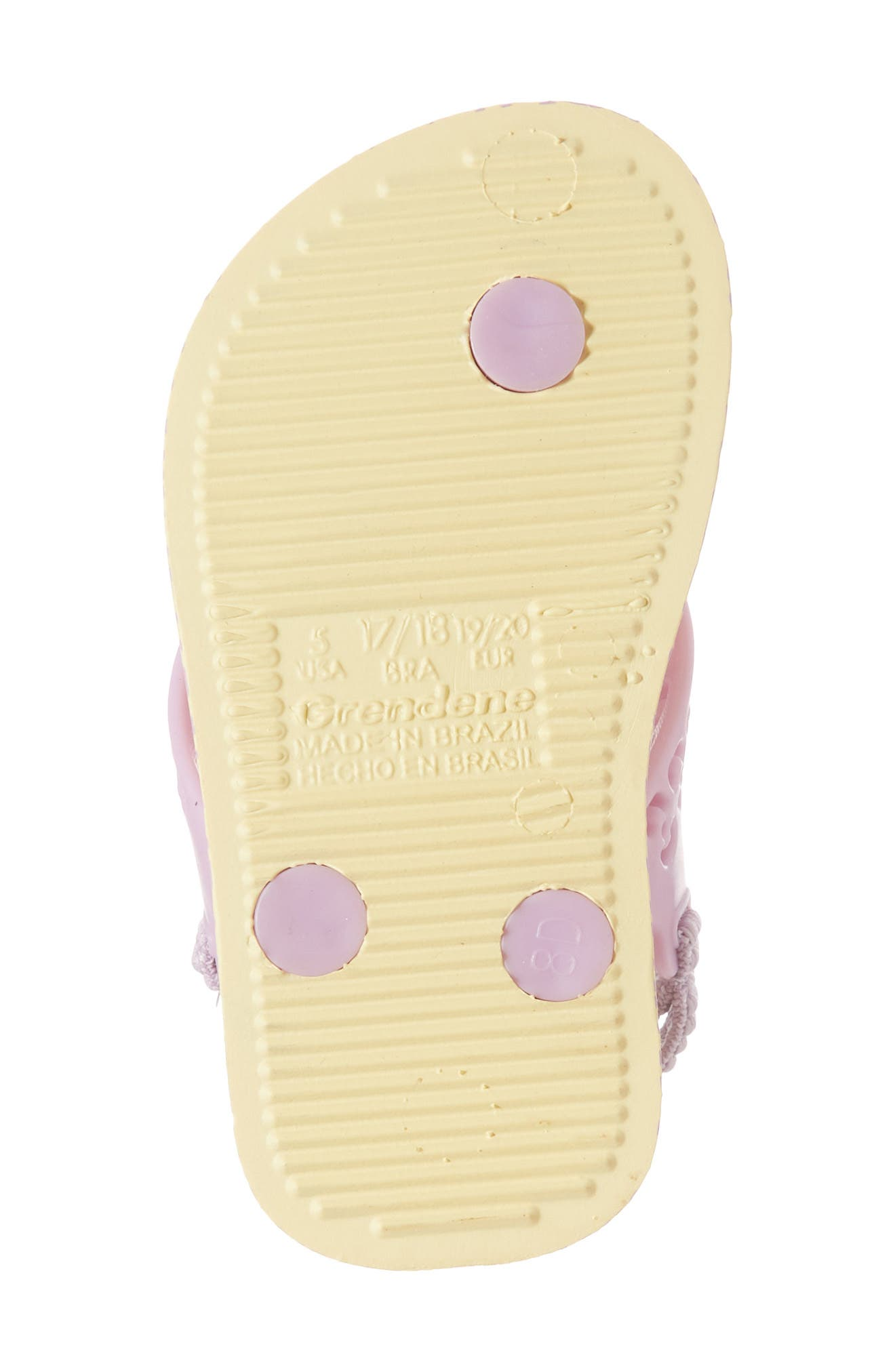 Fun Baby Flip Flop,                             Alternate thumbnail 6, color,                             Yellow/ Lilac
