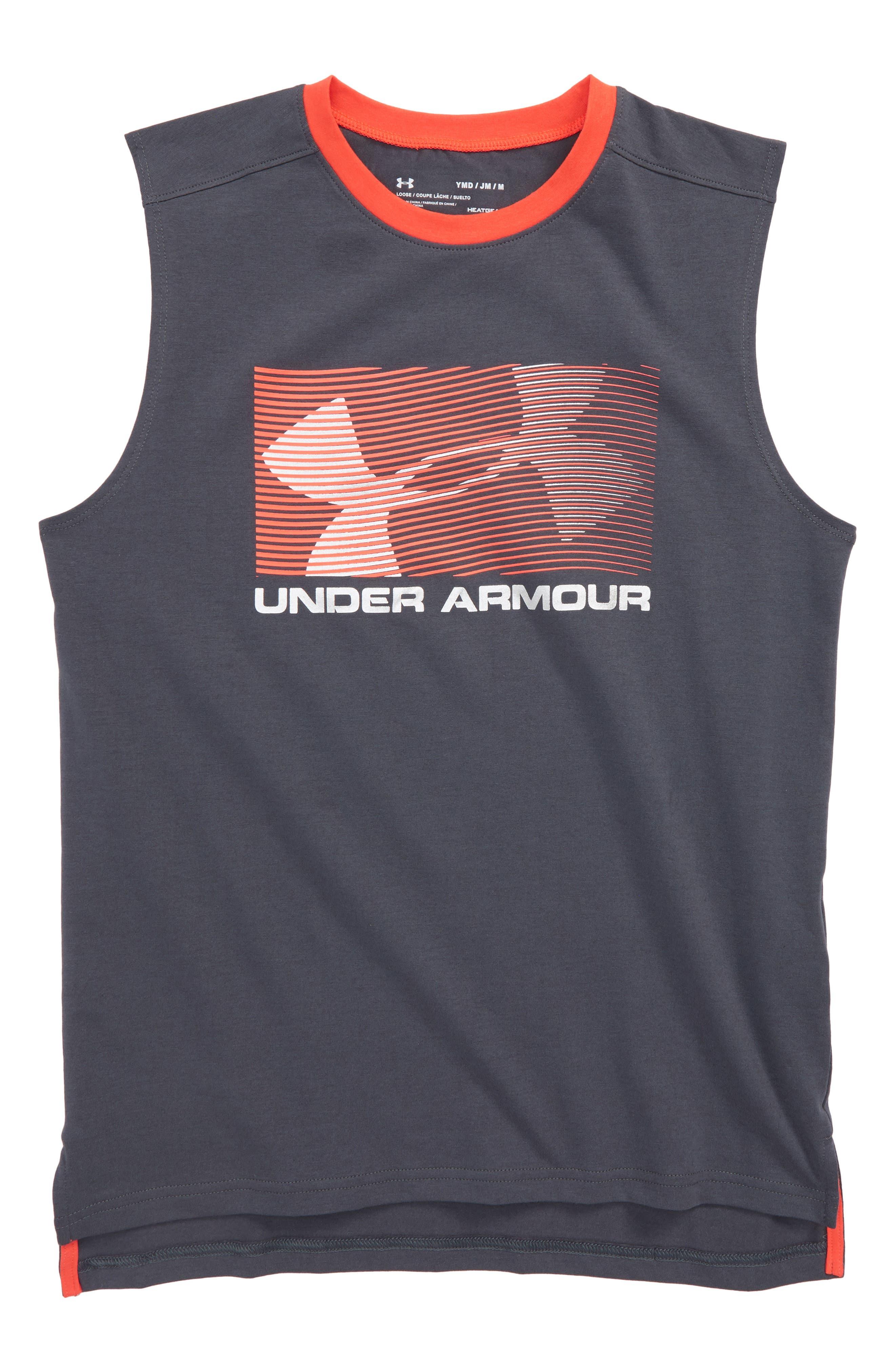 Main Image - Under Armour HeatGear® Muscle Tank (Big Boys)