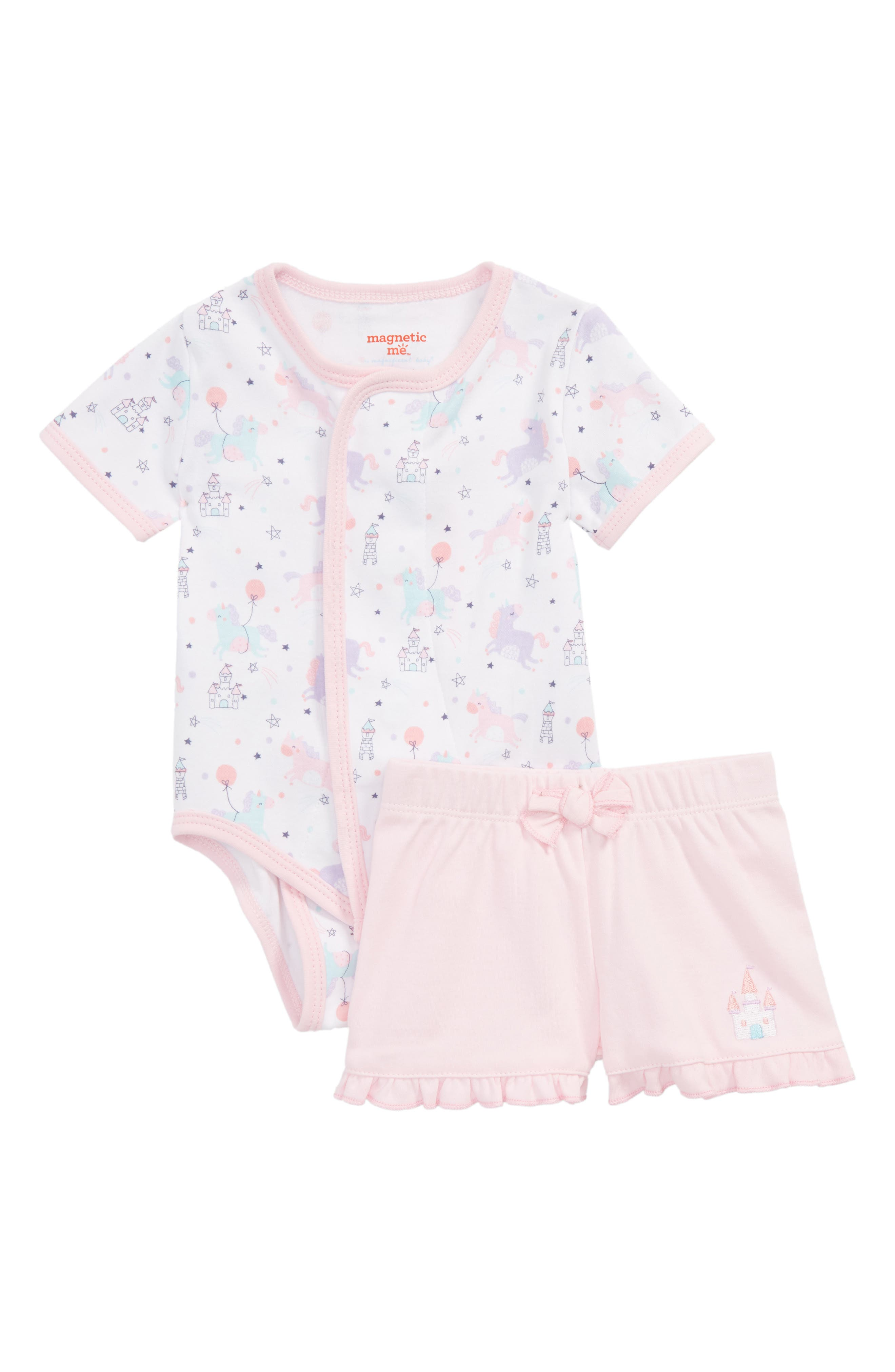 Once Upon a Time Bodysuit & Shorts Set,                             Main thumbnail 1, color,                             Pink