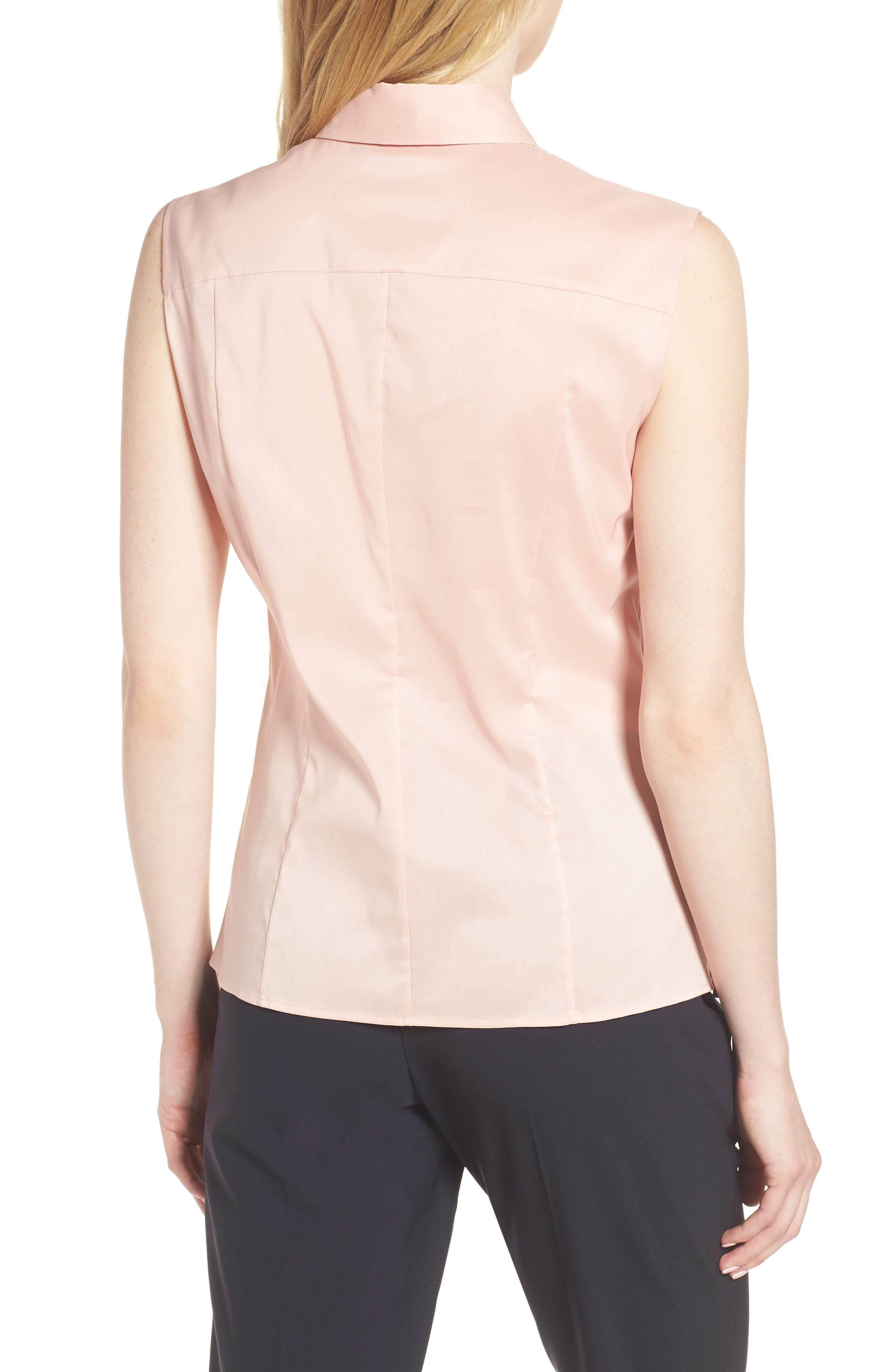 Bashiva Stretch Poplin Blouse,                             Alternate thumbnail 2, color,                             Blush