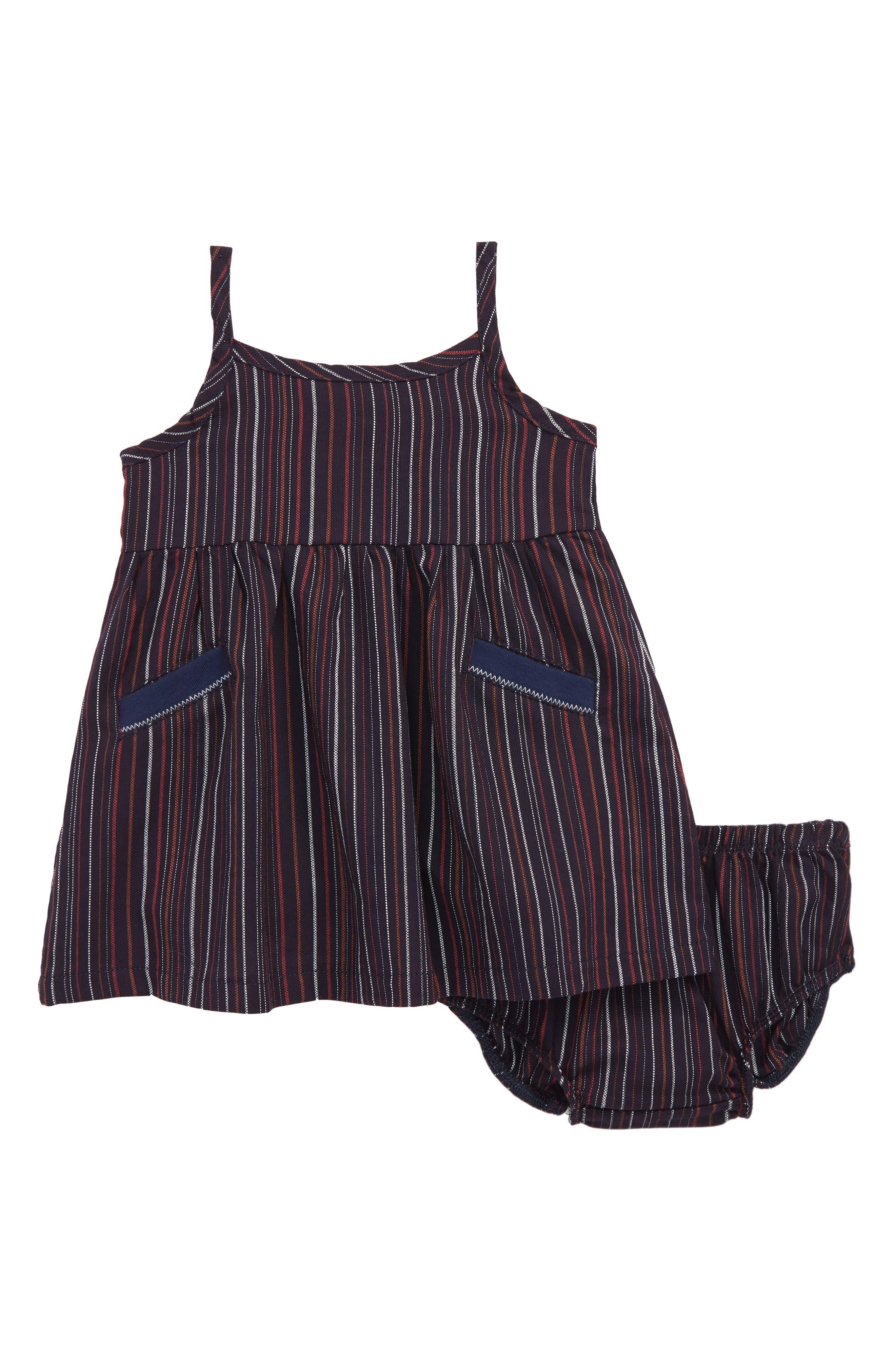 Stripe Tank Dress,                             Main thumbnail 1, color,                             Navy/ Stripe
