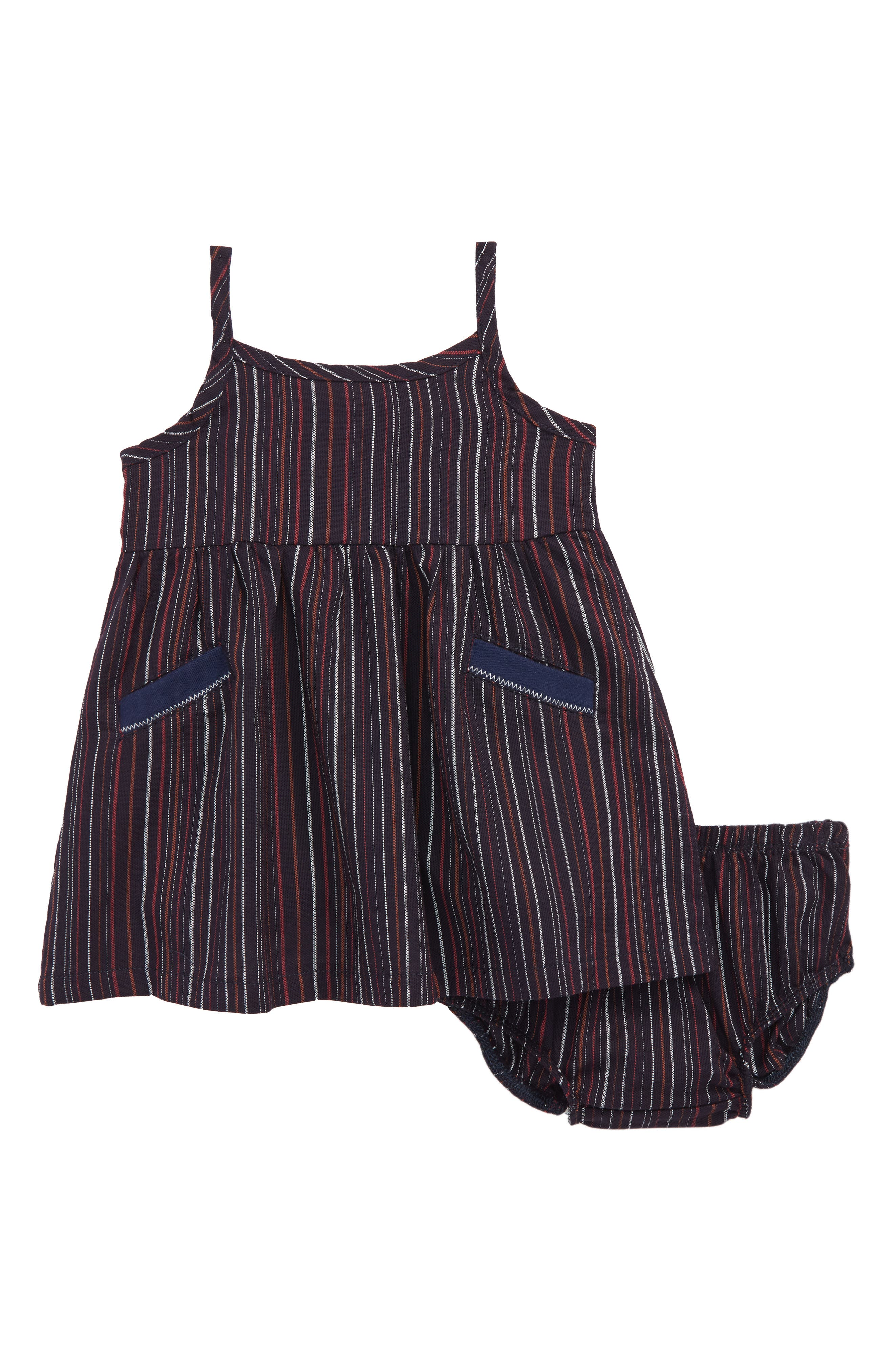 Stripe Tank Dress,                         Main,                         color, Navy/ Stripe